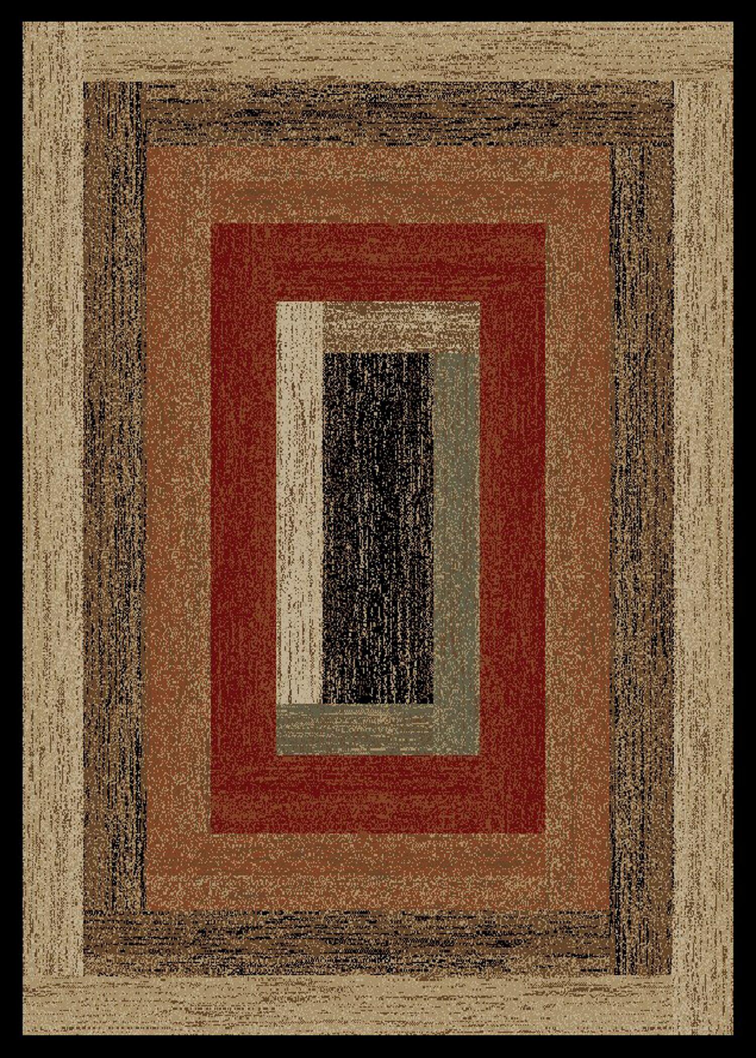 Durango Rustic Panel Beige Area Rug Rug Size: Rectangle 5' x 8'
