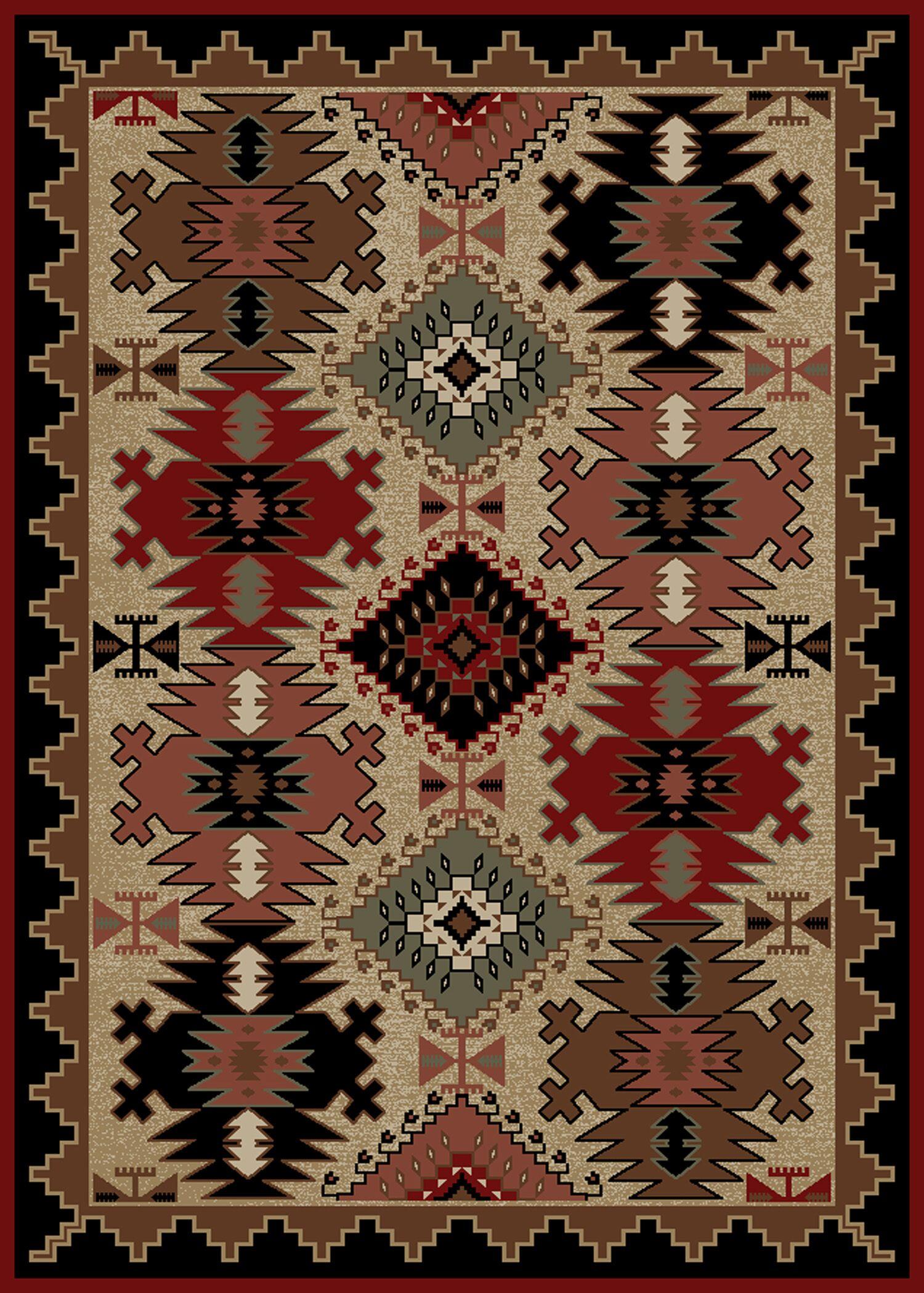 Windsor Lane Brown/Red Area Rug Rug Size: Rectangle 8' x 10'