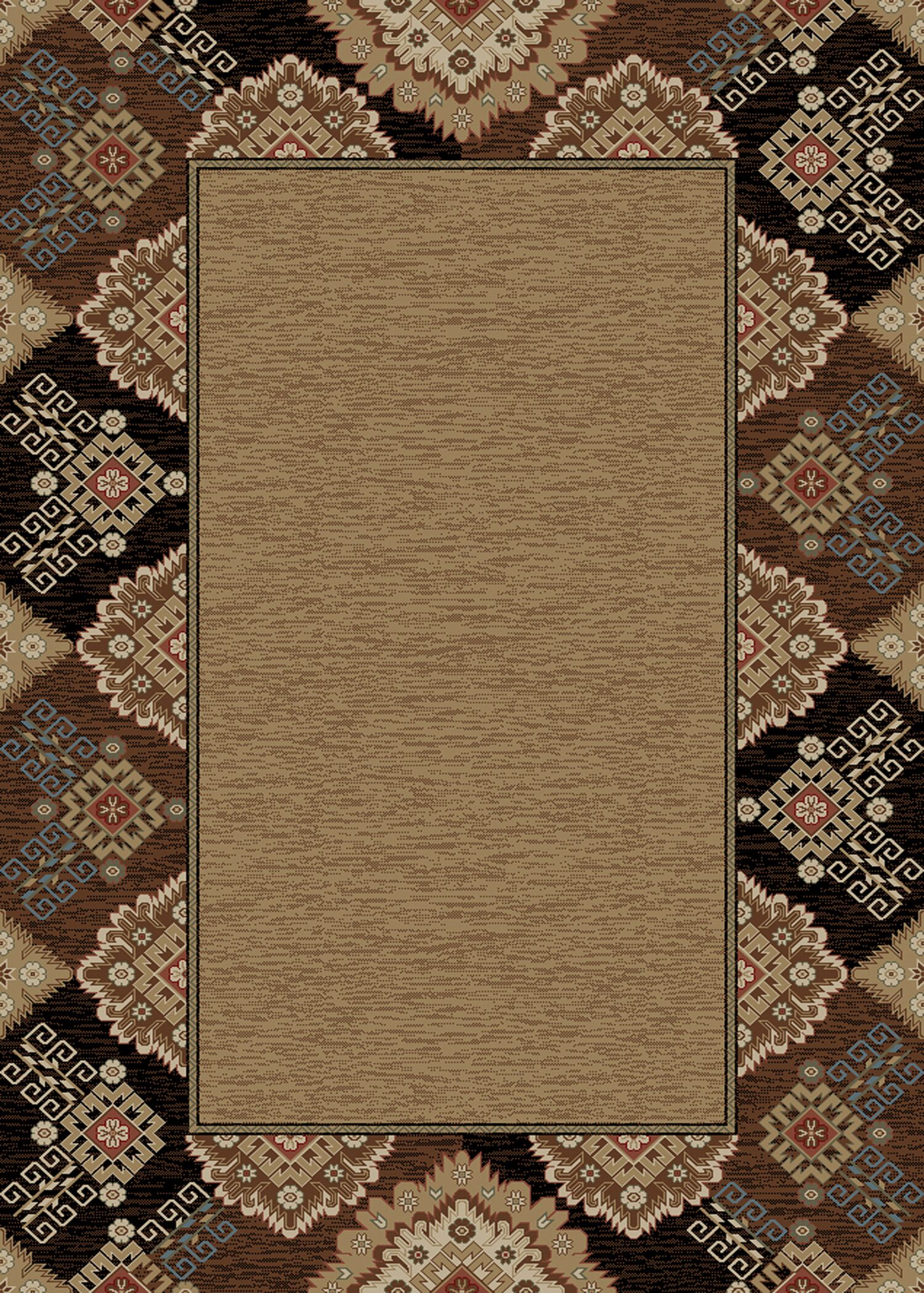 Chateaux Tapestry Brown Area Rug Rug Size: Rectangle 8' x 10'