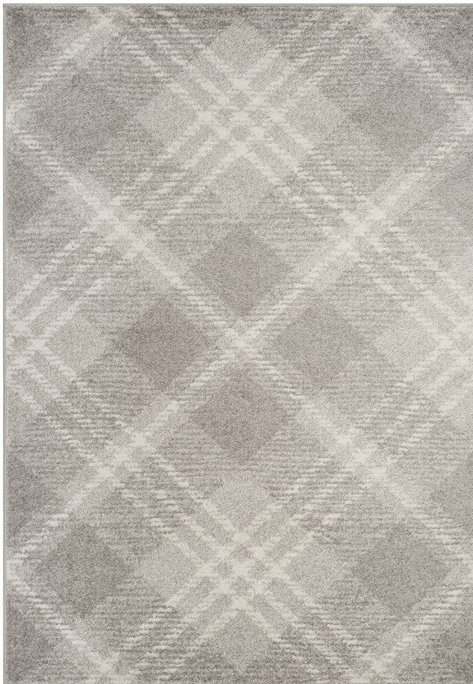 St. Ann Highlands Light Gray/Ivory Area Rug Rug Size: Rectangle 4' x 6'