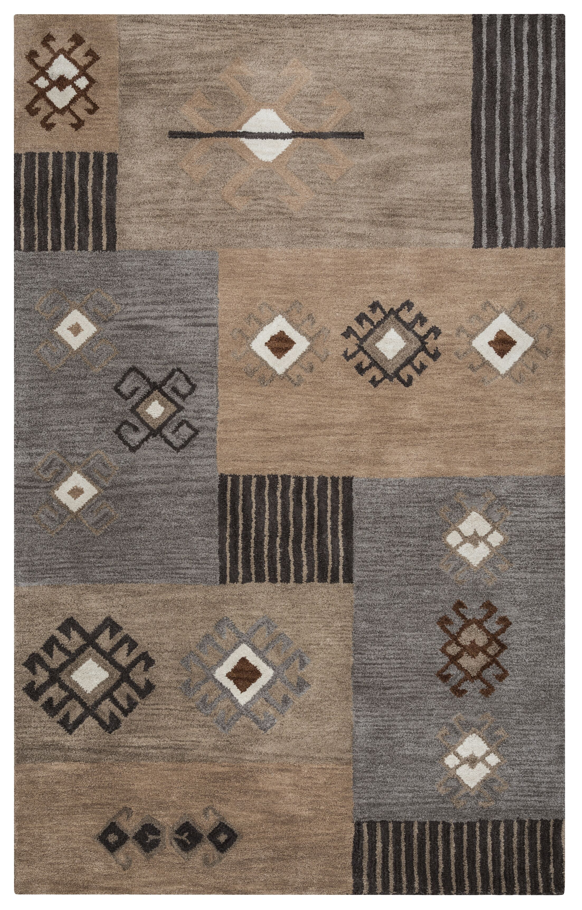 Upper St. Vrain Hand-Tufted Area Rug Rug Size: Rectangle 8' x 10'