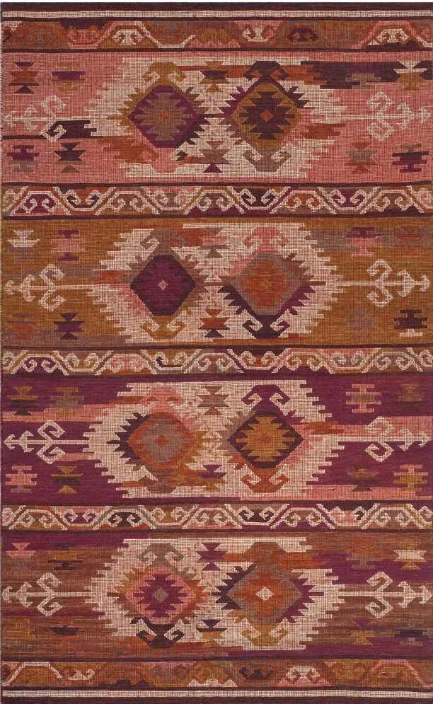 Elan Hand-Woven Pink/Red Area Rug Rug Size: Rectangle 5' x 8'