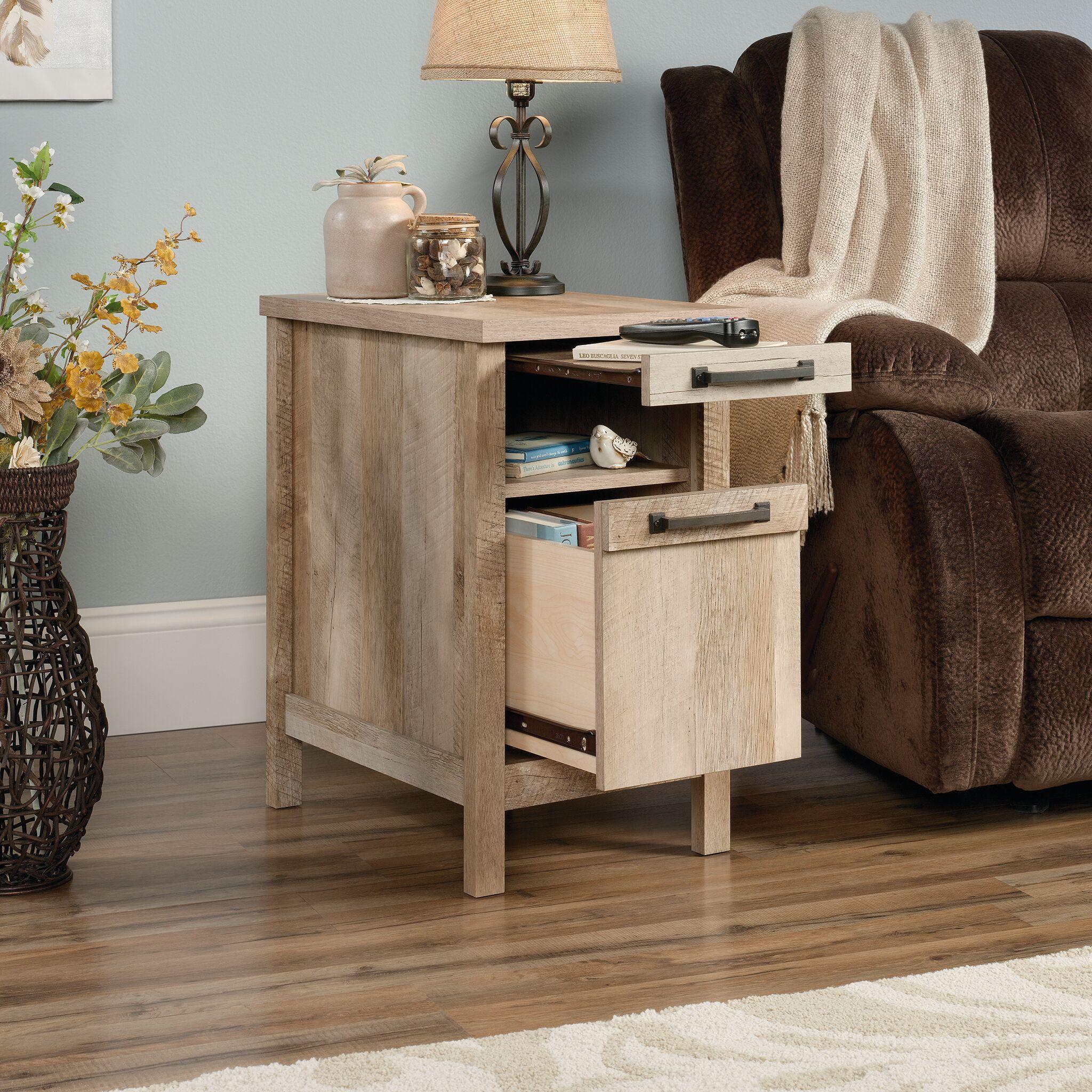 Tilden End Table With Storage Finish: Lintel oak