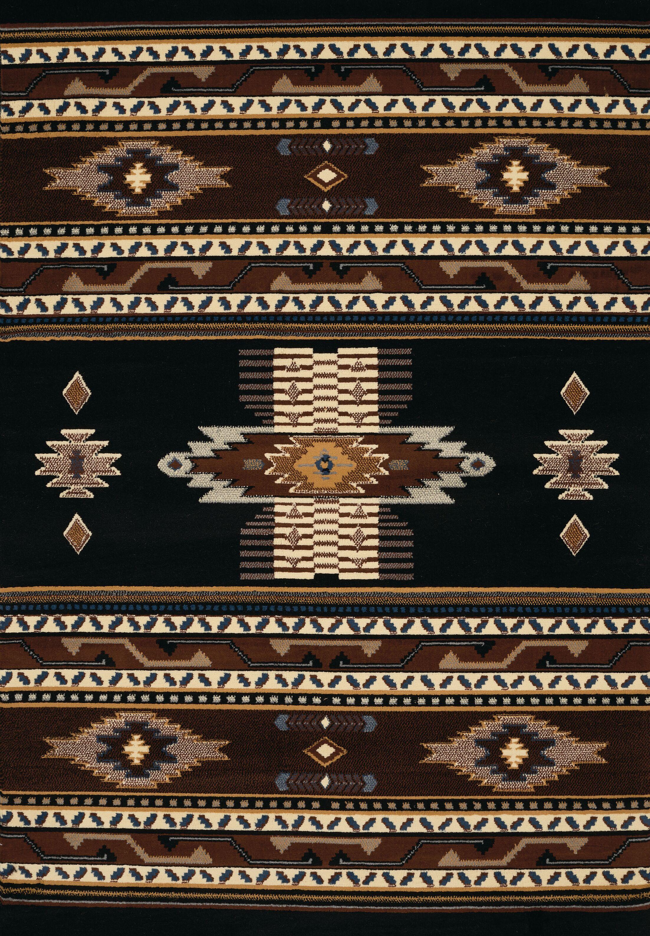 Hyacinthe Black Area Rug Rug Size: 7'10