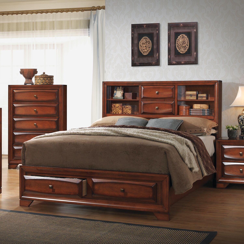 Granite Storage Platform Bed Size: King