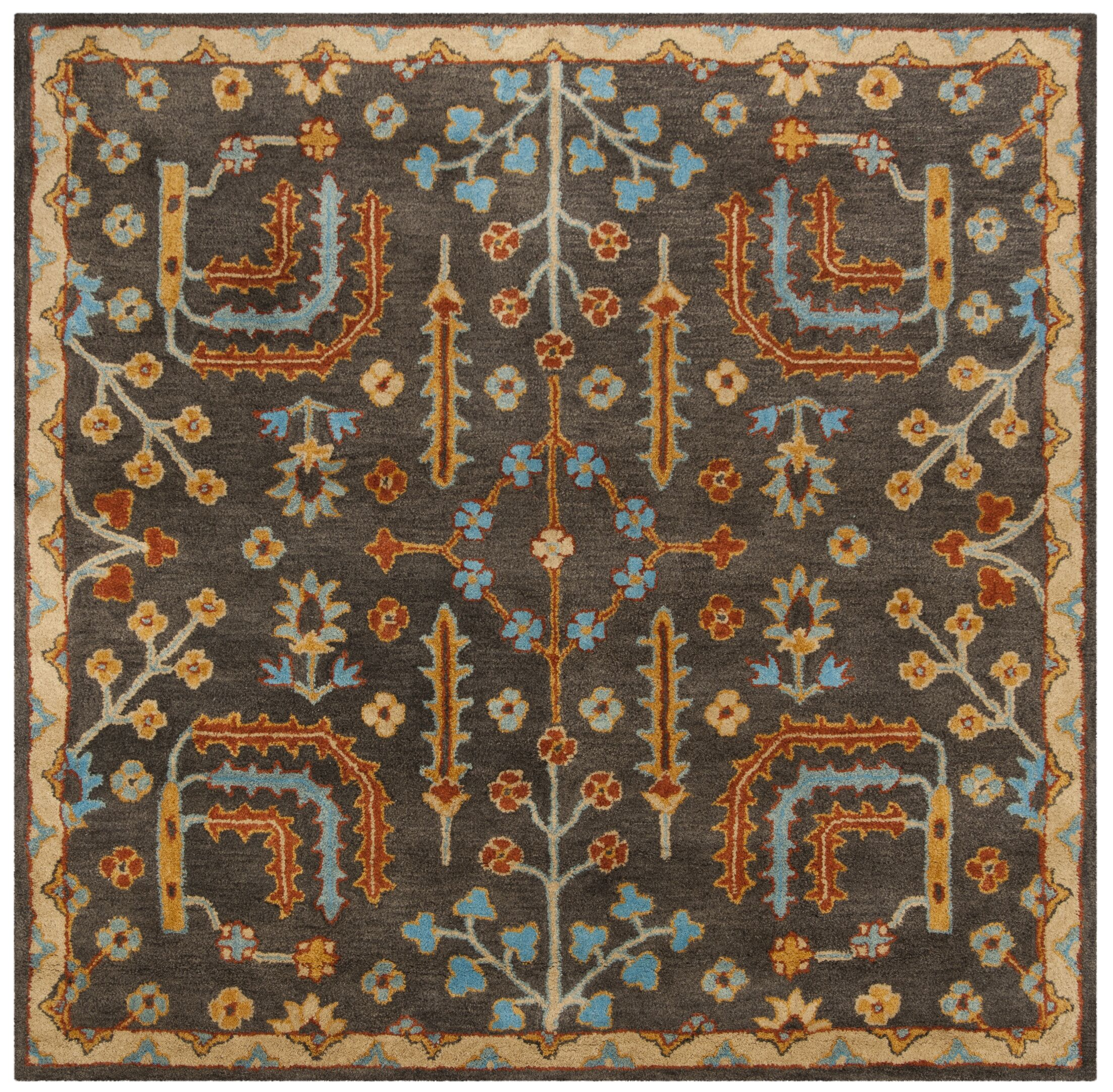 Boyd Hand-Tufted Multi-Color Area Rug Rug Size: Square 8'