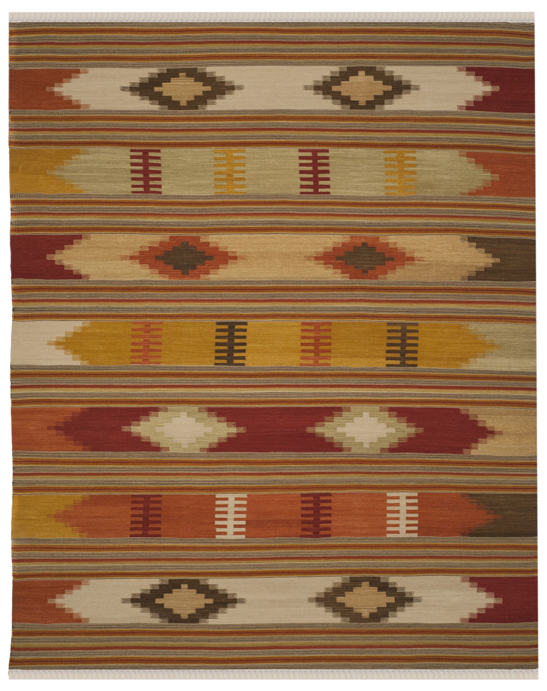 Vacaville Hand Woven Wool Red/Orange Area Rug Rug Size: Rectangle 11' x 15'