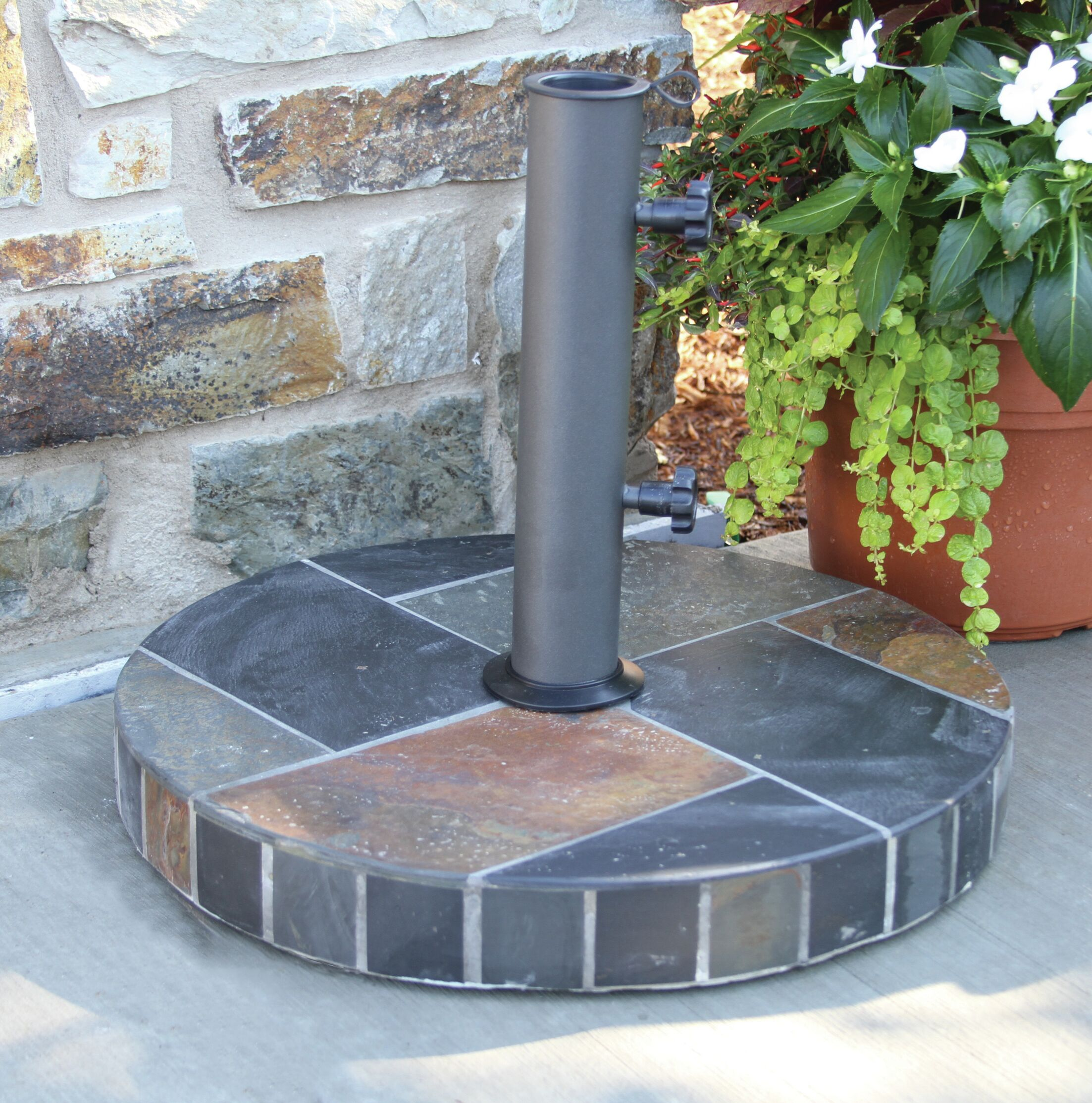 Brawley Heavy Duty Stone Free Standing Umbrella Base