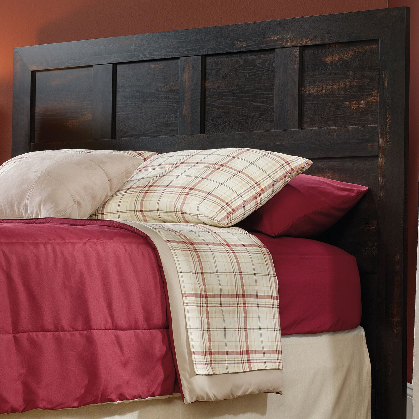 Riddleville Queen Panel Headboard Color: Char Pine