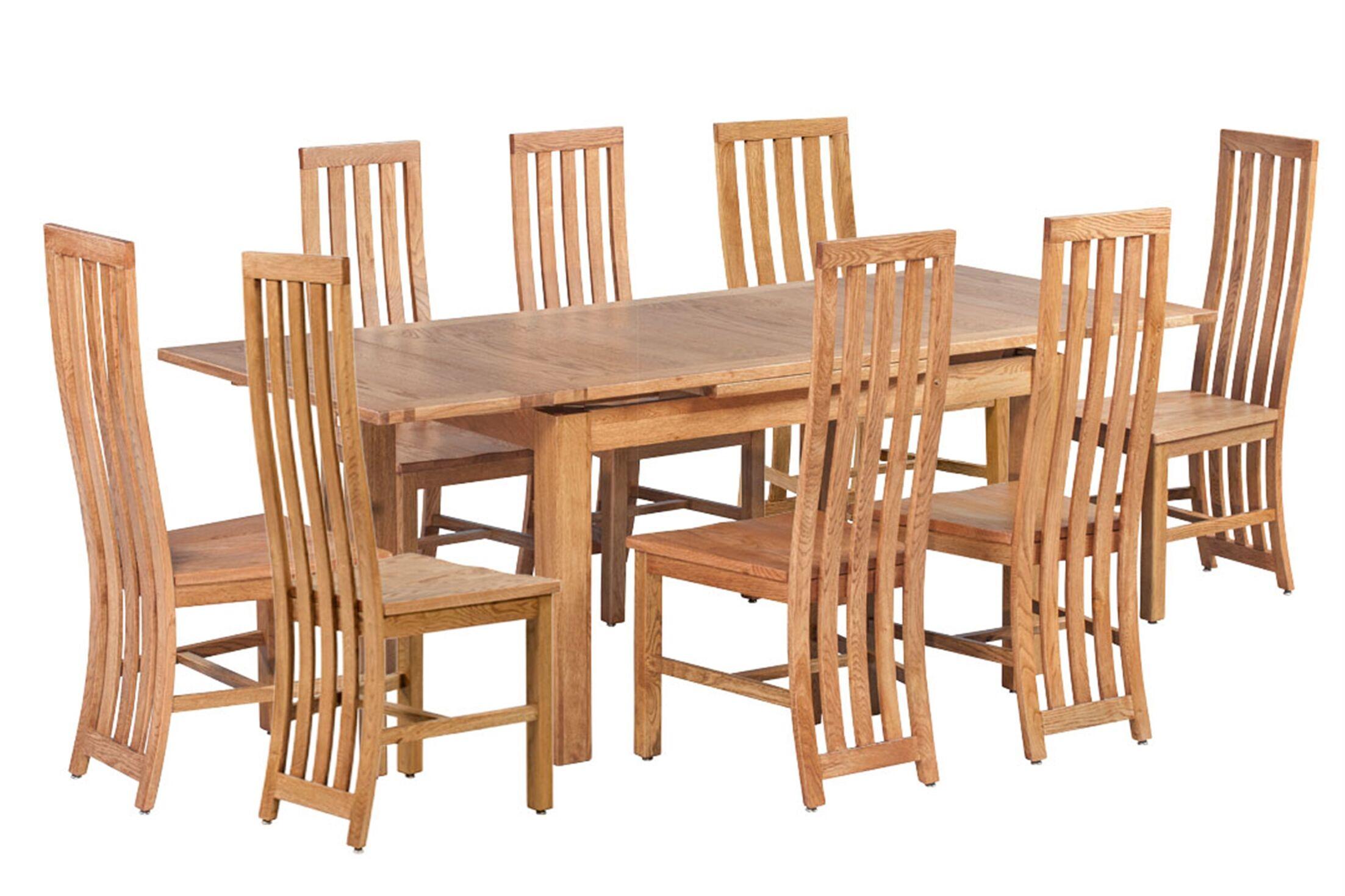 Arreola 9 Piece Extendable Solid Wood Dining Set Color: Light Dark Oak