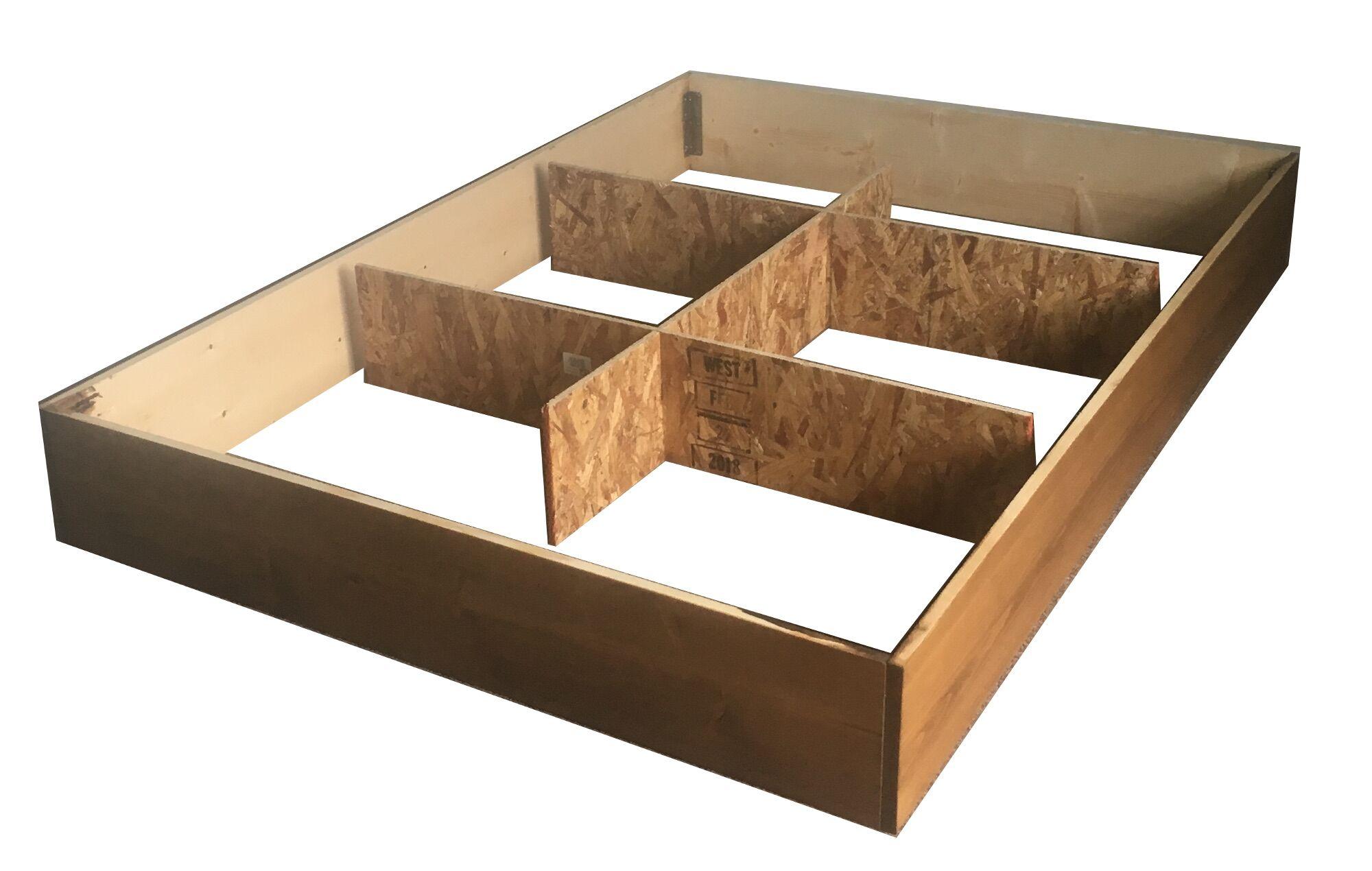 Allerton Waterbed Premium Solid Pine Pedestal Storage Platform Size: Queen, Color: Tan