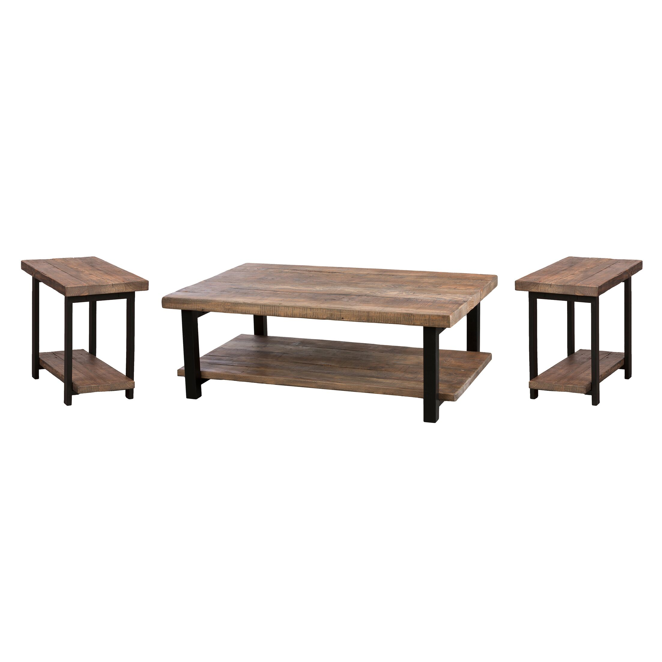 Borica 3 Piece Coffee Table Set