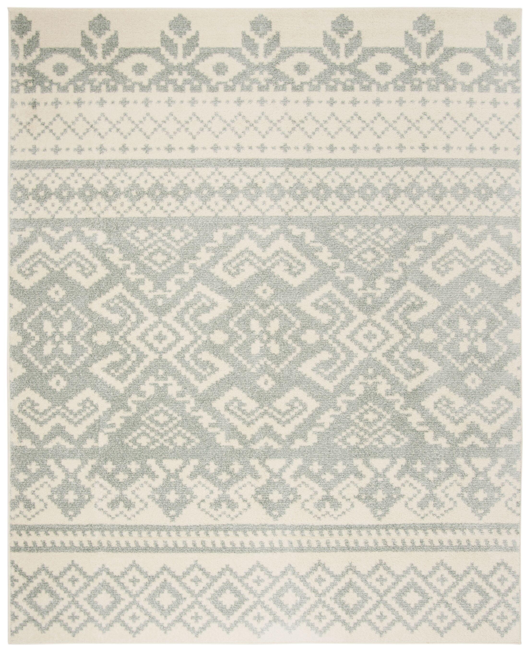 Cavileer Ivory/Slate Area Rug Rug Size: Rectangle 8' x 10'