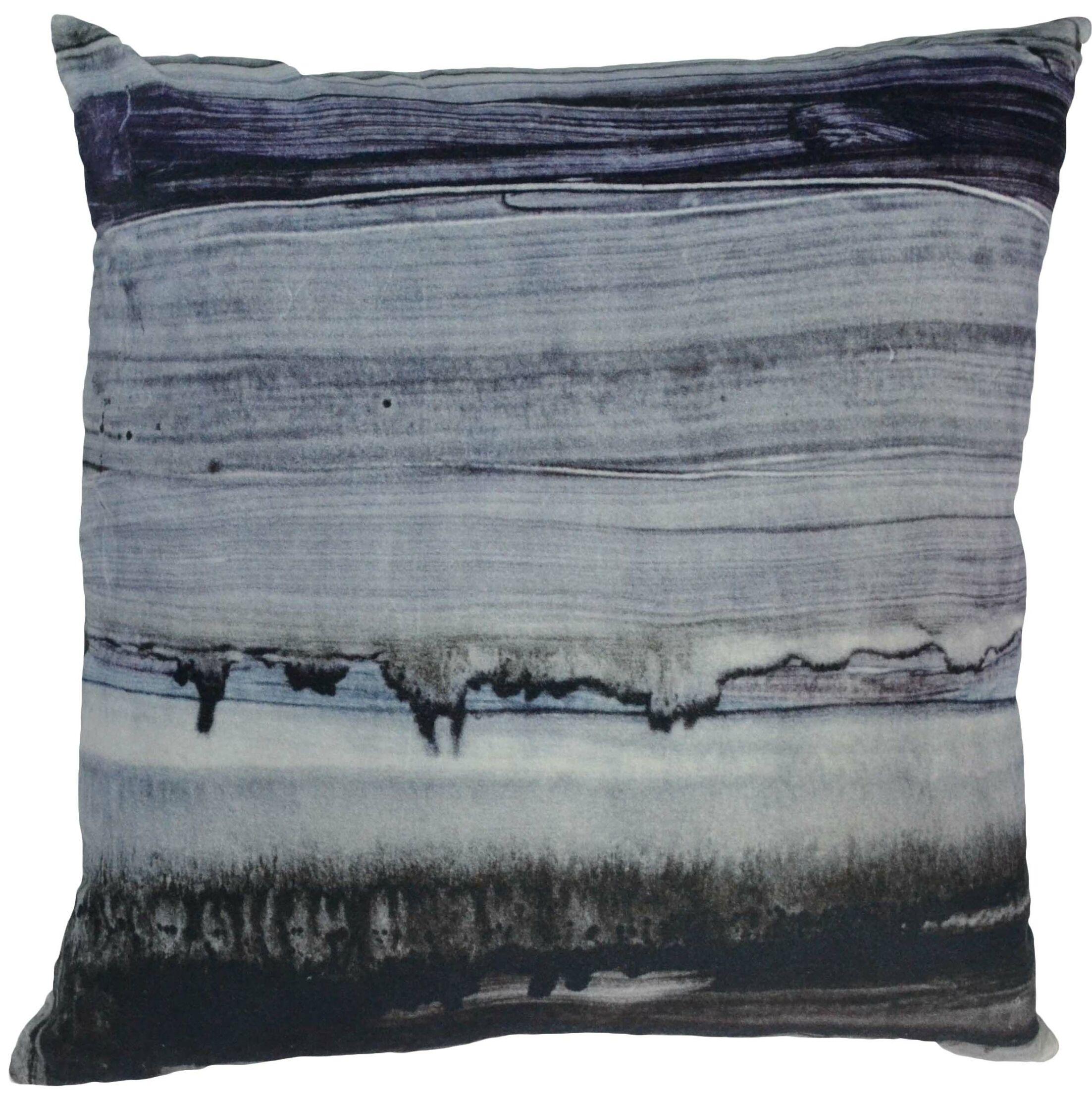 Parallel Lines Velvet Throw Pillow
