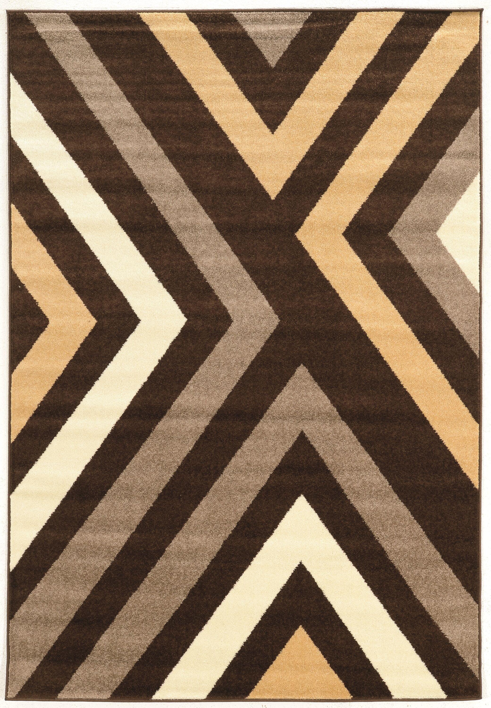 Thorton Brown Area Rug Rug Size: Rectangle 5' x 7'