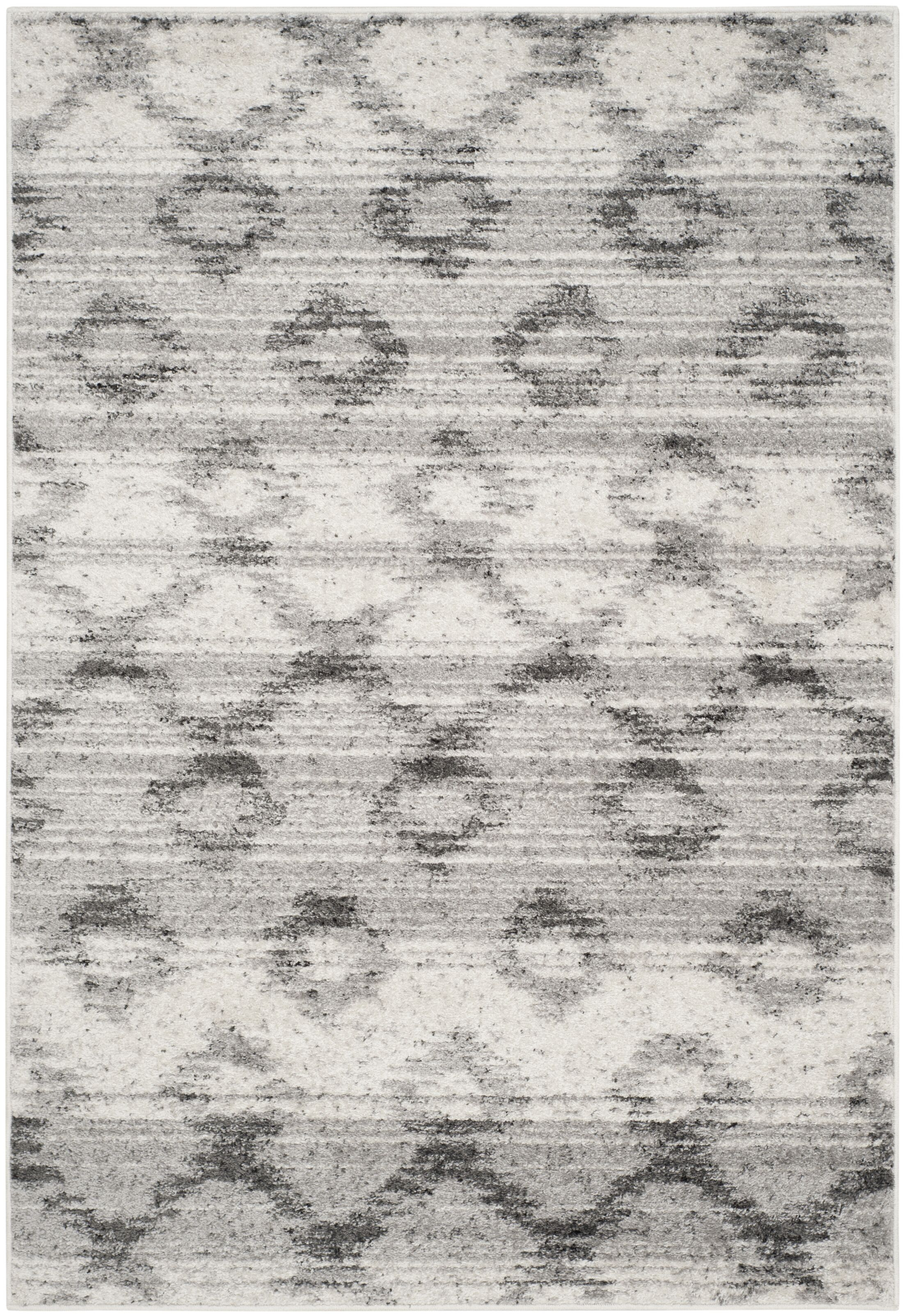 Shults Silver/Charcoal Area Rug Rug Size: Rectangle 8' x 10'