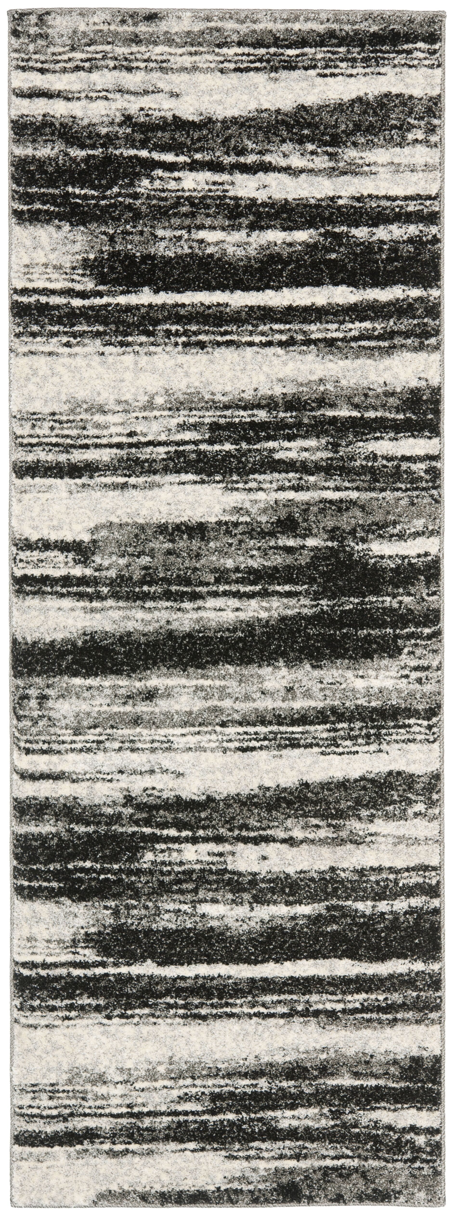 Aislinn Dark Grey / Light Grey Area Rug Rug Size: Runner 2'3