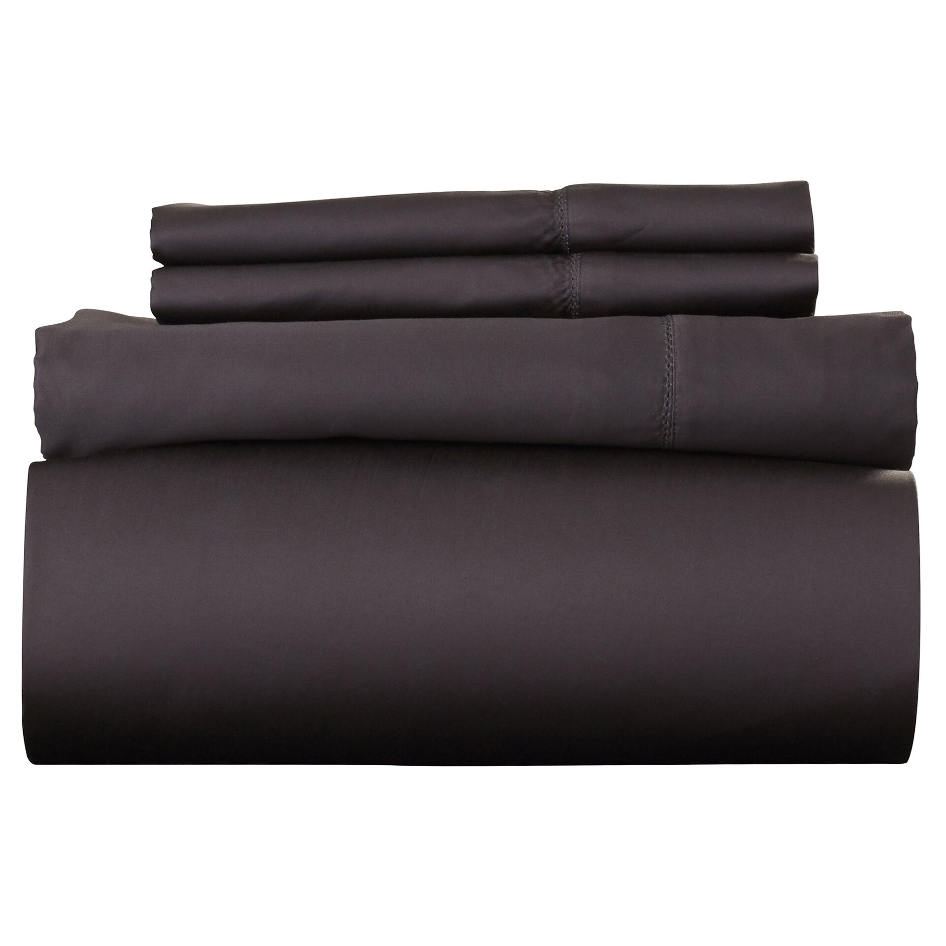 Ferndale 4 Piece 800 Thread Count Egyptian Quality Cotton Sheet Set Color: Steel, Size: King