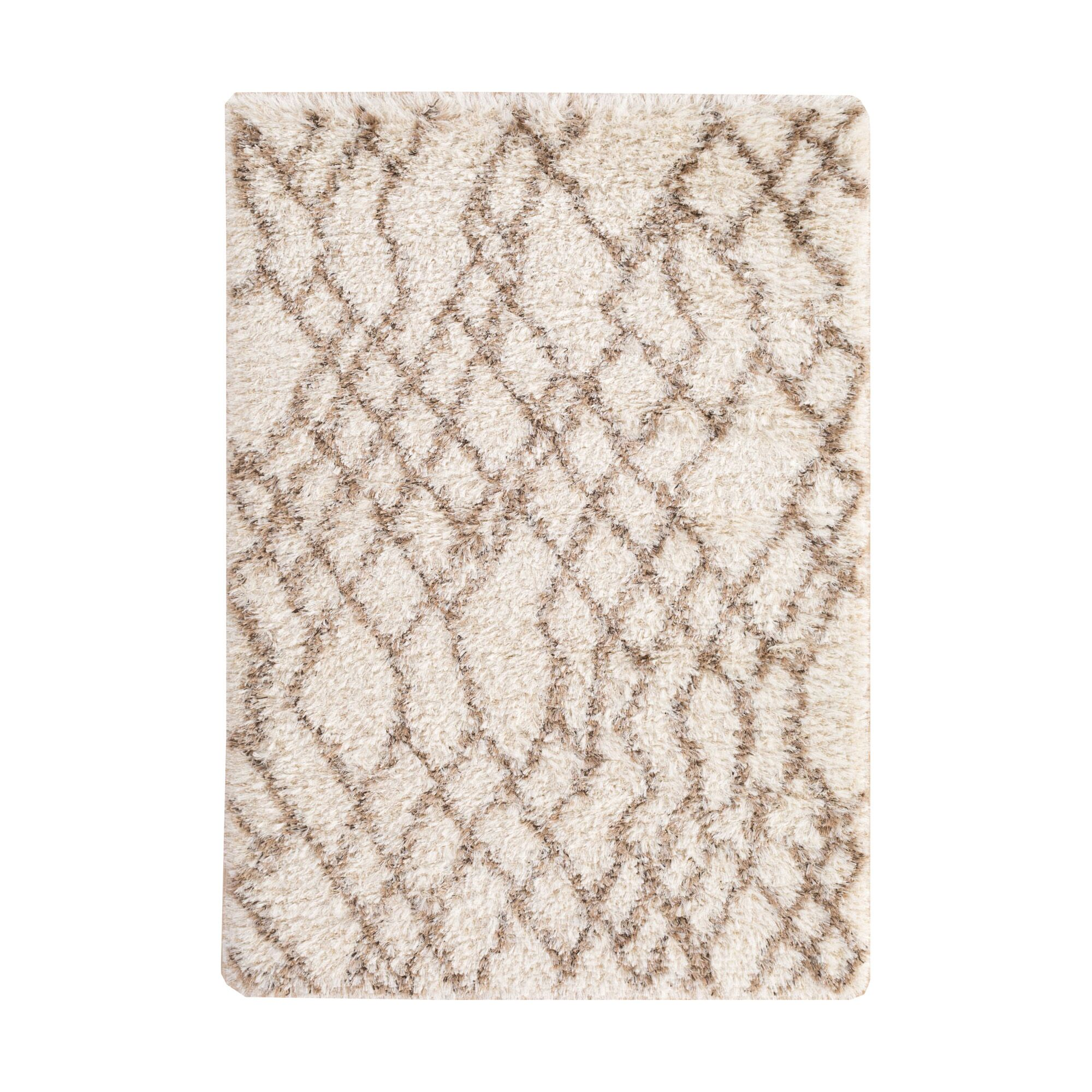 Camberry Hand-Woven Beige & Brown Area Rug Rug Size: Rectangle 2' x 3'