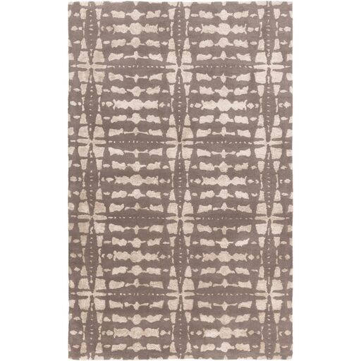 Vesey Hand-Tufted Gray/Beige Area Rug Rug Size: Rectangle 5' x 7'6