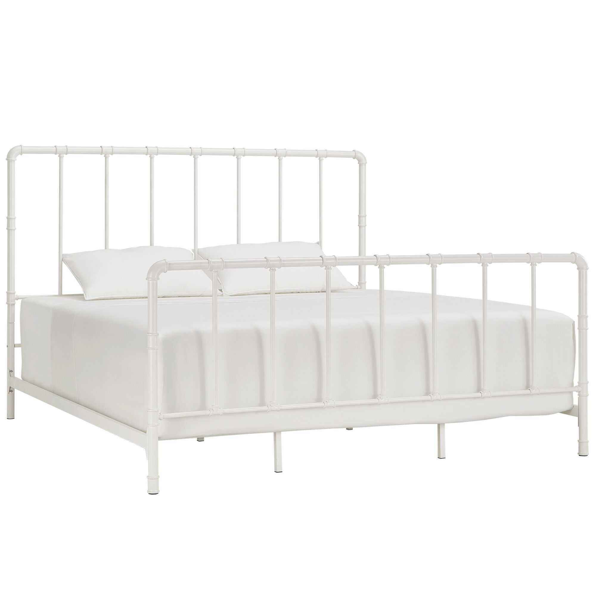 South San Francisco King Panel Bed Color: Antique White