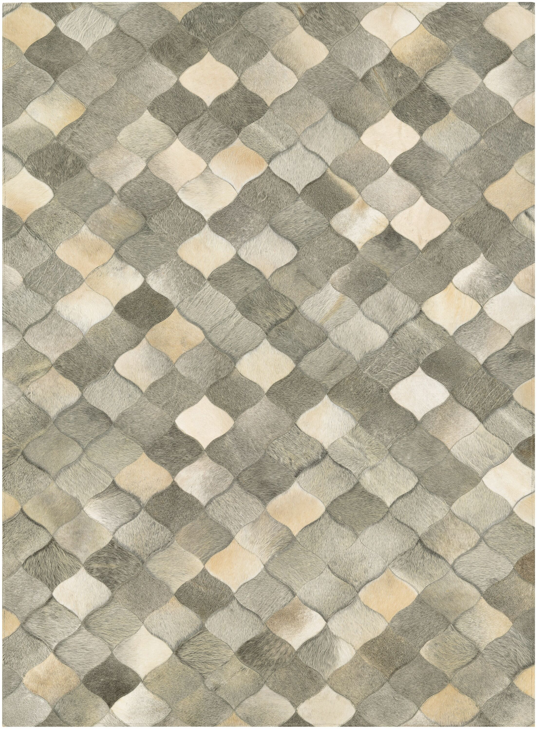 Willis Hand-Woven Ivory/Gray Area Rug Rug Size: 8' x 11'
