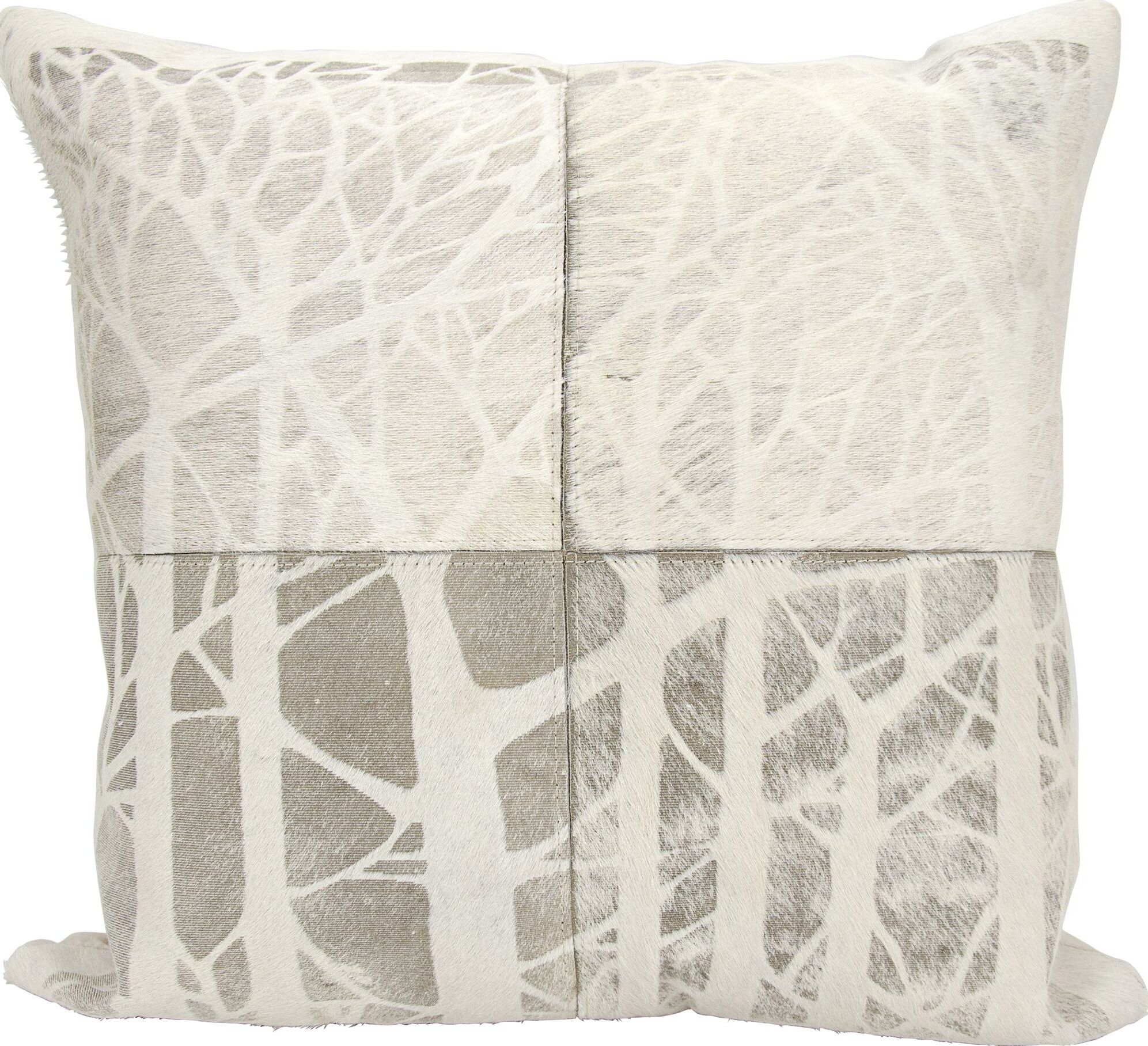 Dondale Natural Leather Hide Throw Pillow