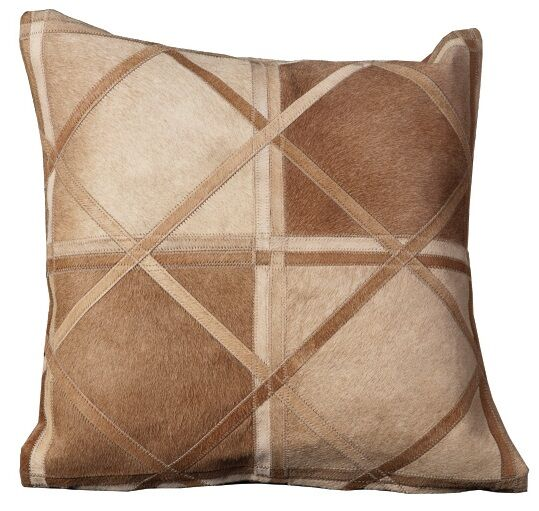 Fitch Natural Leather Hide Throw Pillow Color: Beige