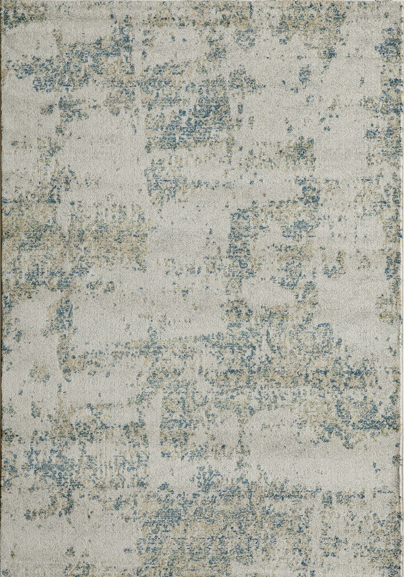 Terry Gray/Blue Area Rug Rug Size: Rectangle 5'3