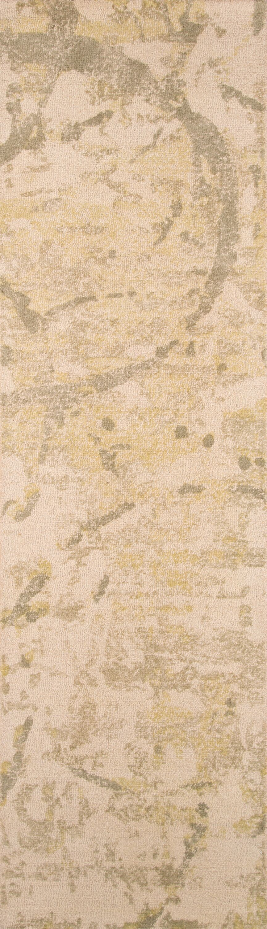 Stanford Hand-Tufted Green/Ivory Area Rug Rug Size: Runner 2'3