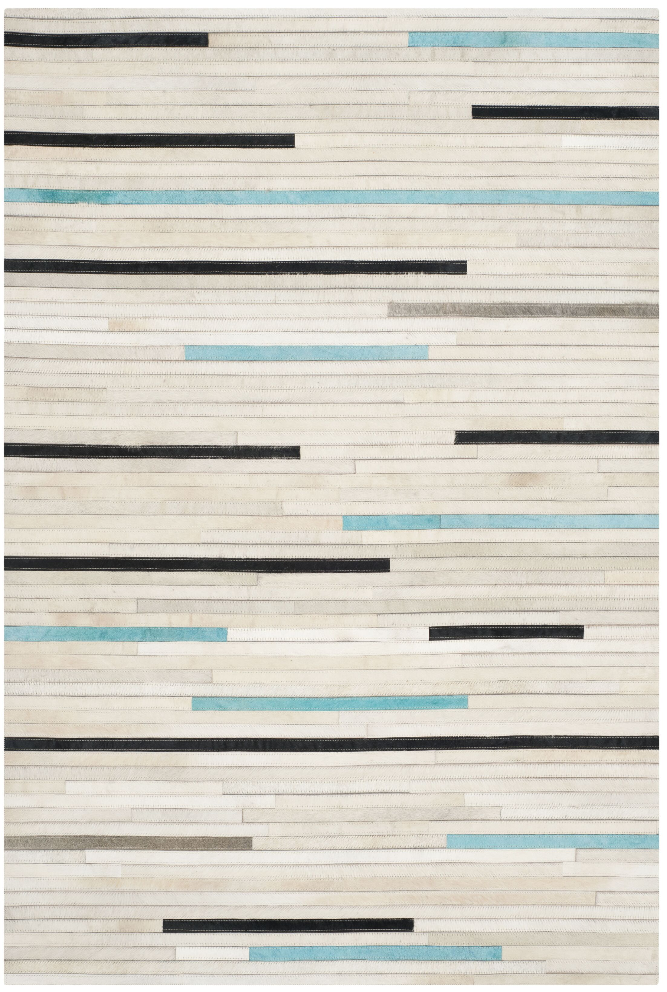 Stasia Leather Multi Contemporary Area Rug Rug Size: Rectangle 4' x 6'