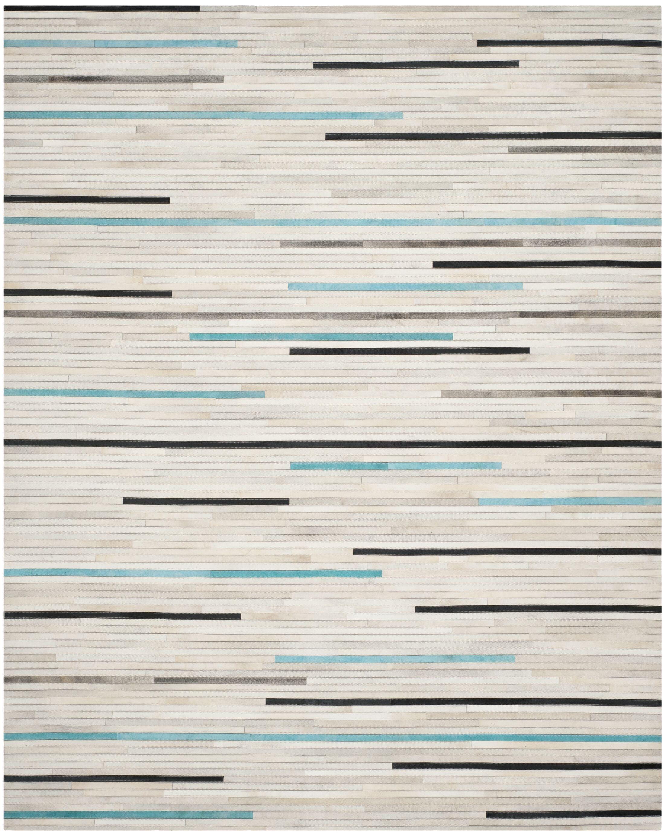 Stasia Leather Multi Contemporary Area Rug Rug Size: Rectangle 8' x 10'