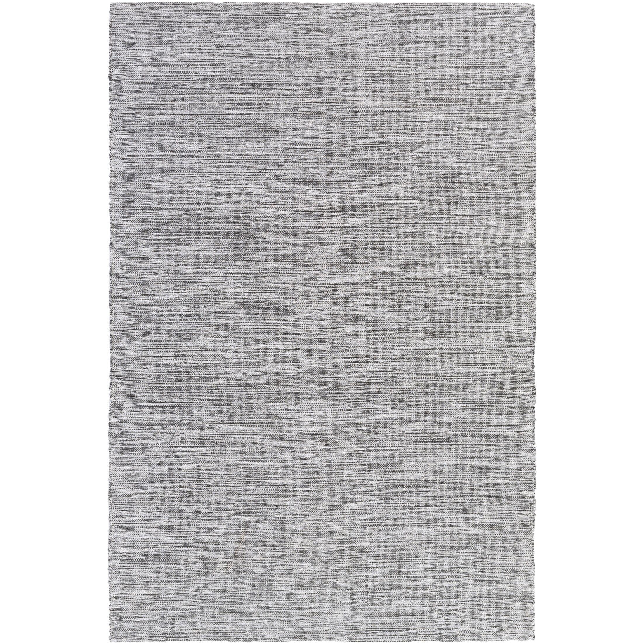 Hugo Hand-Woven Black/White Area Rug Rug Size: Rectangle 4' x 6'