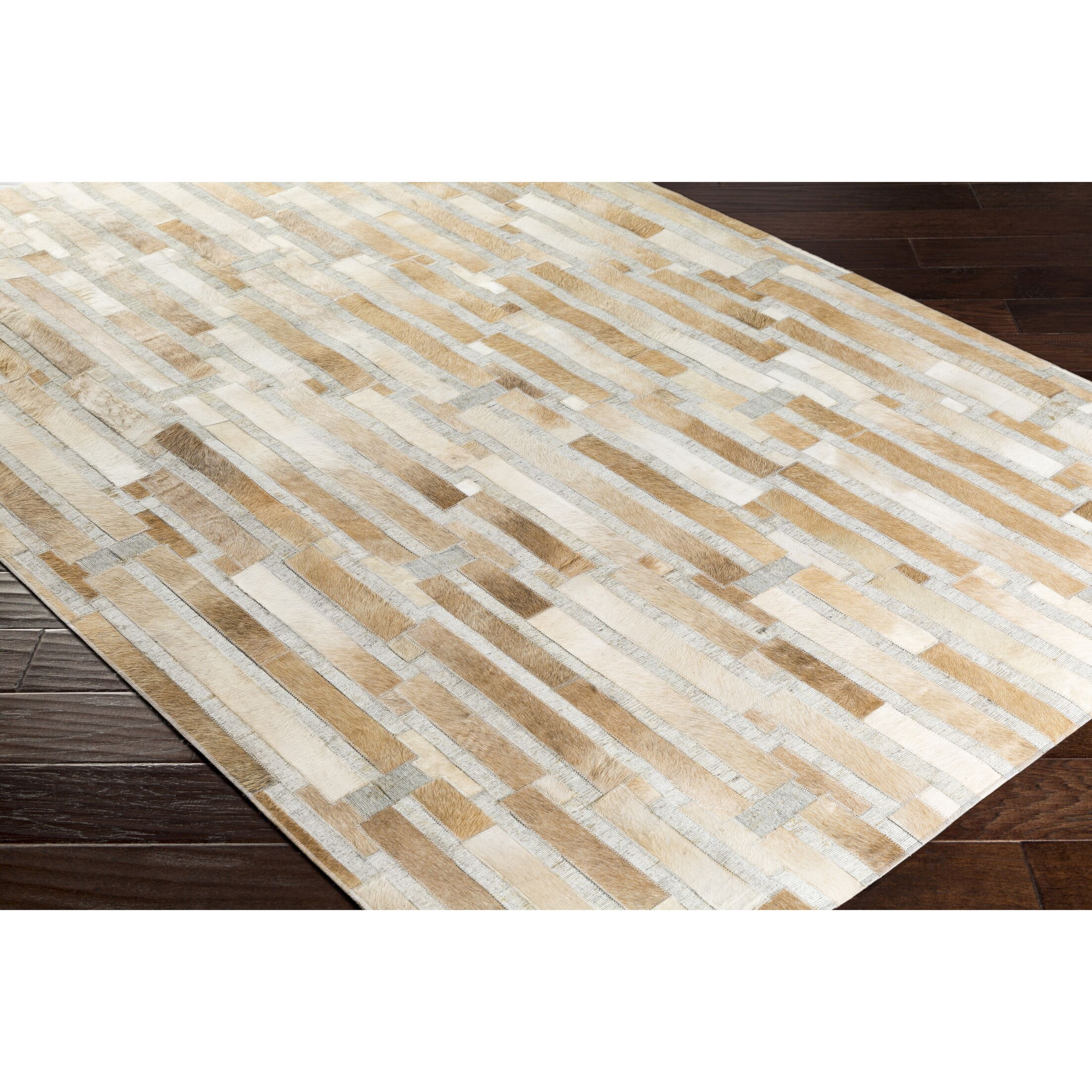 Armando Hand-Crafted Geometric Brown/Neutral Area Rug Rug Size: Rectangle 5' x 7'6