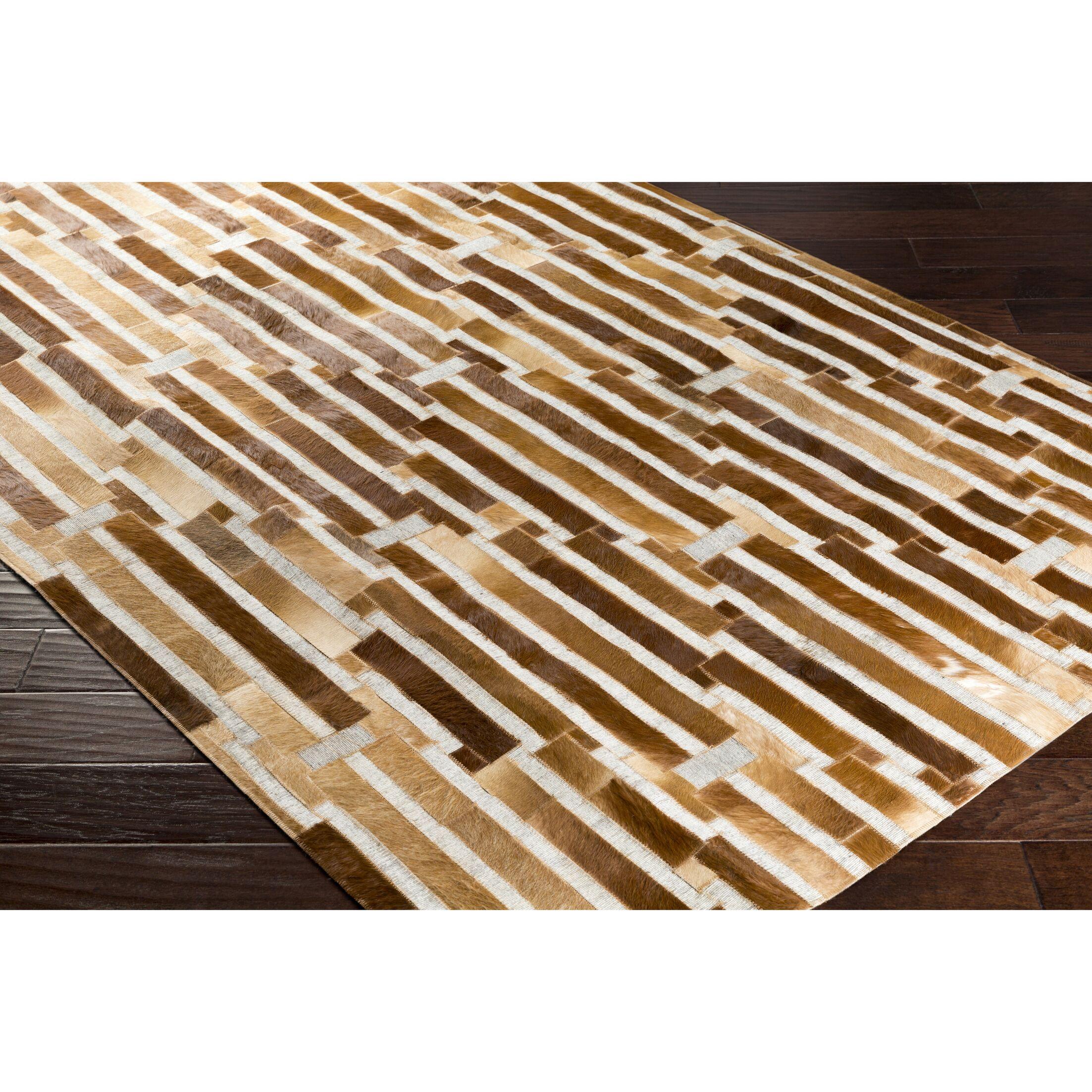 Armando Hand-Crafted Geometric Brown Area Rug Rug Size: Rectangle 5' x 7'6