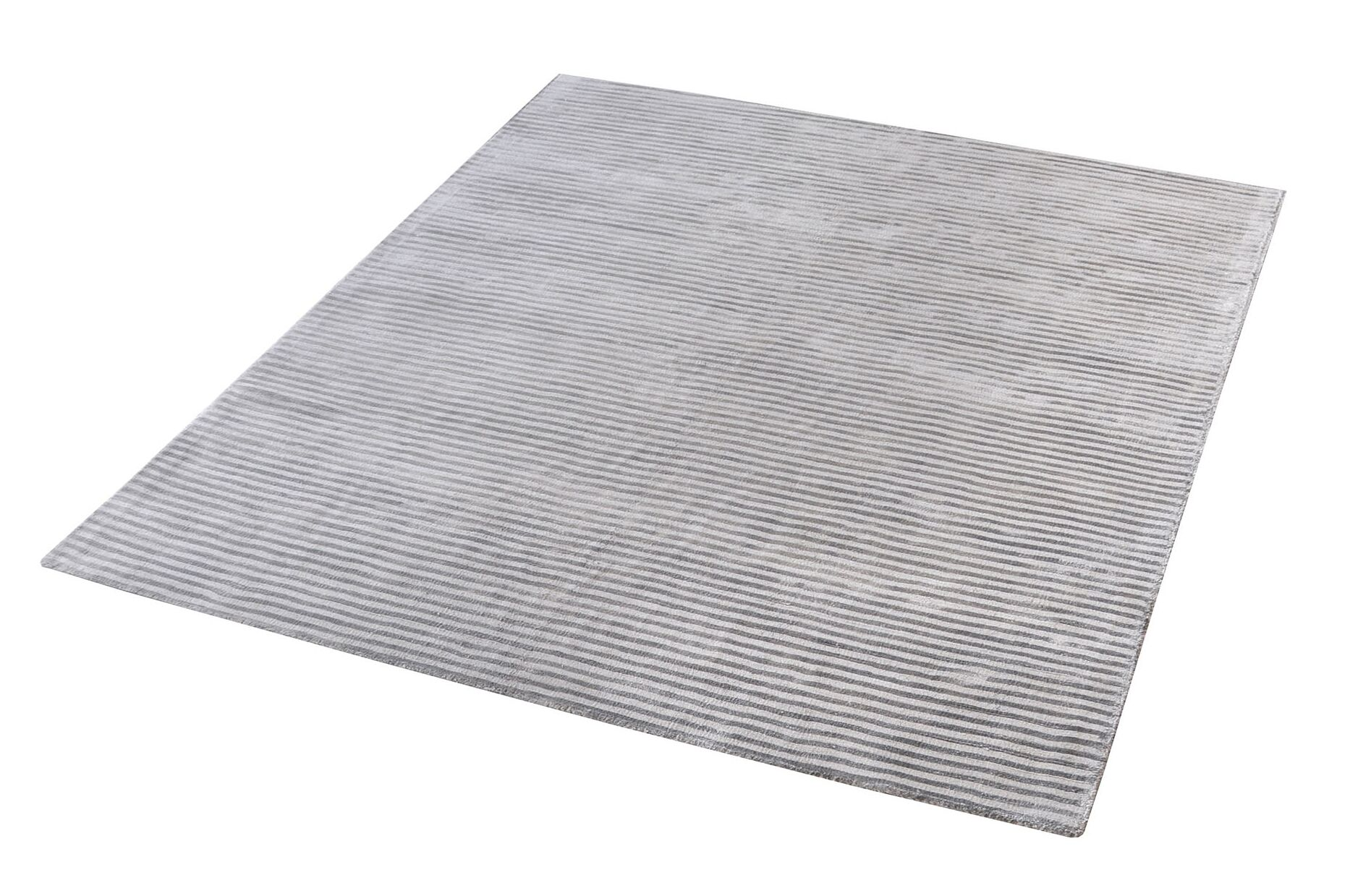Lulu Hand-Woven Silver Area Rug Rug Size: Rectangle 9' x 12'