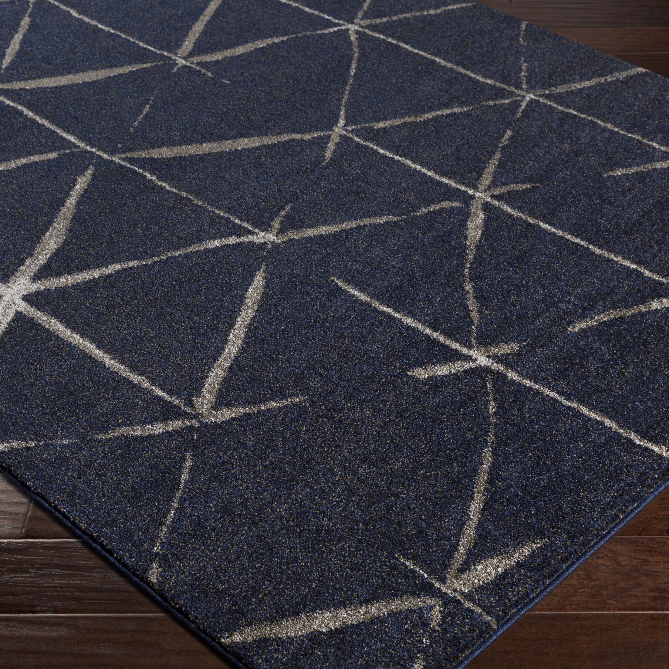 Danny Blue Area Rug Rug Size: Rectangle 2' x 3'3