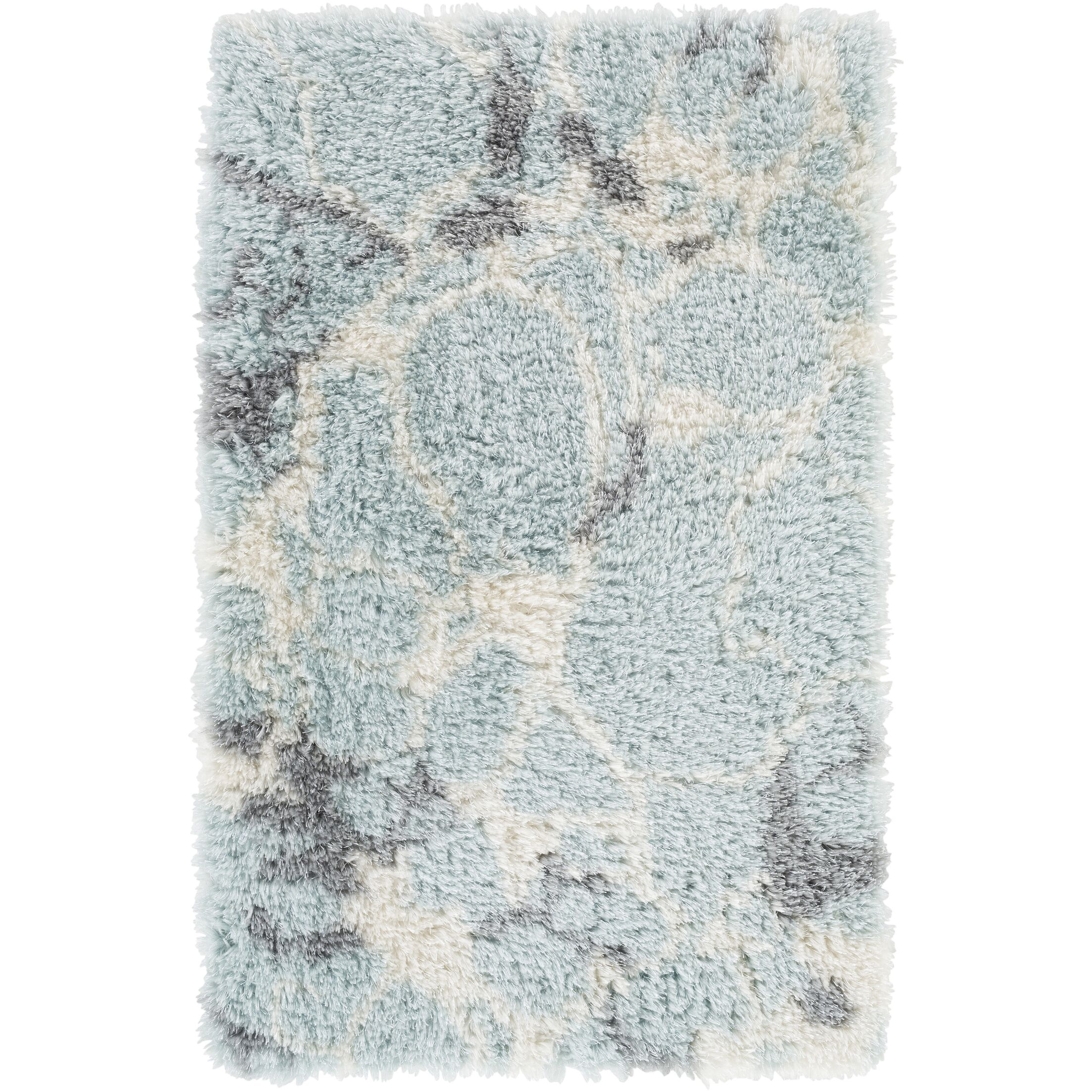 Keith Blue/White Area Rug Rug Size: Rectangle 5' x 7'6