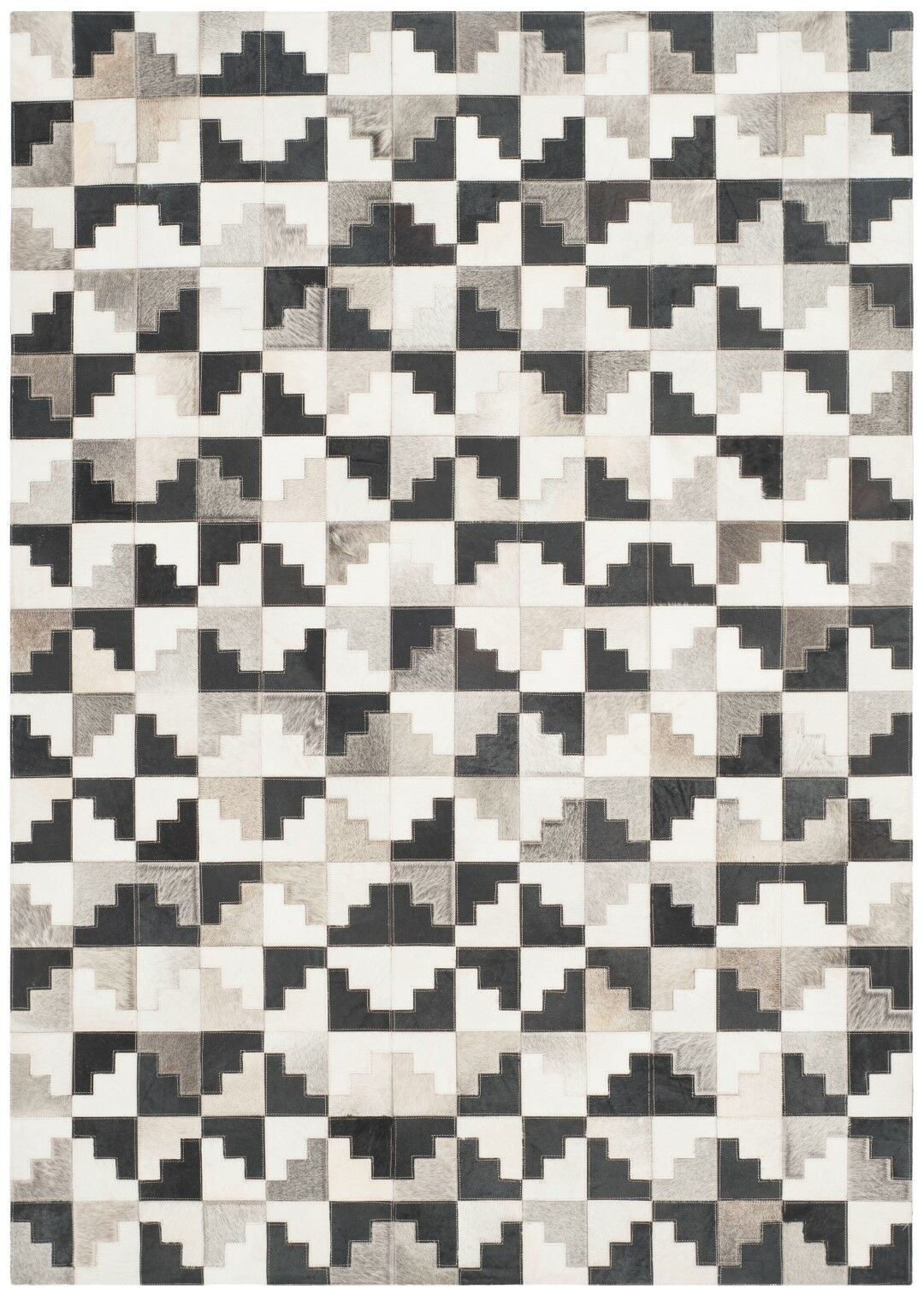Stasia Hand-Woven Ivory/Black Area Rug Rug Size: Rectangle 3' x 5'