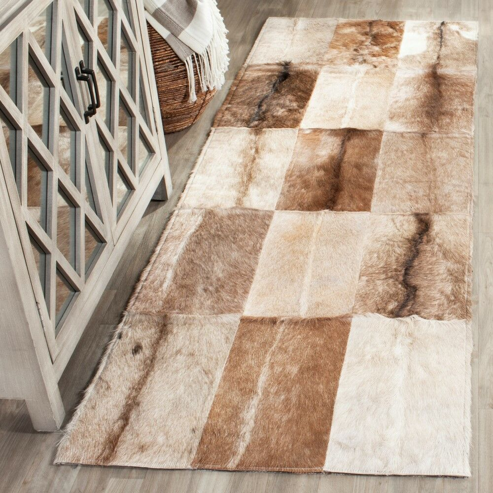 Sequoyah Hand-Woven Natural Cowhide Area Rug Rug Size: Rectangle 5' x 8'
