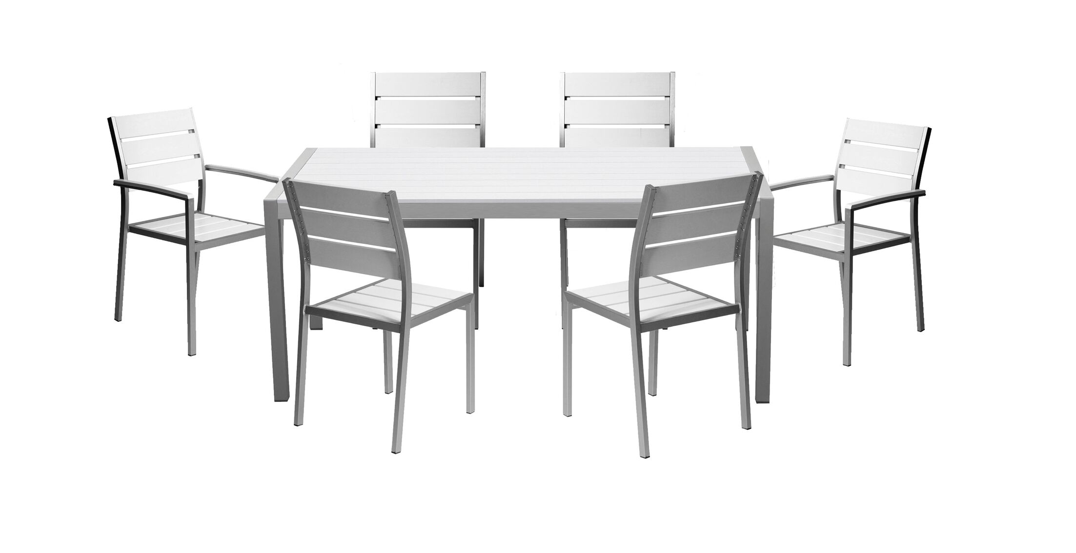 Kimberly 7 Piece Dining Set Color: White