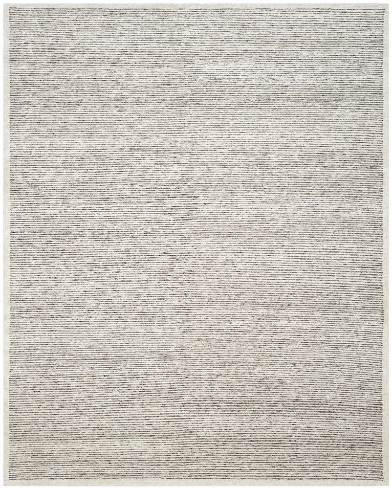 Lidiaídia Hand-Knotted Striped Gray Area Rug Rug Size: Rectangle 9' x 12'