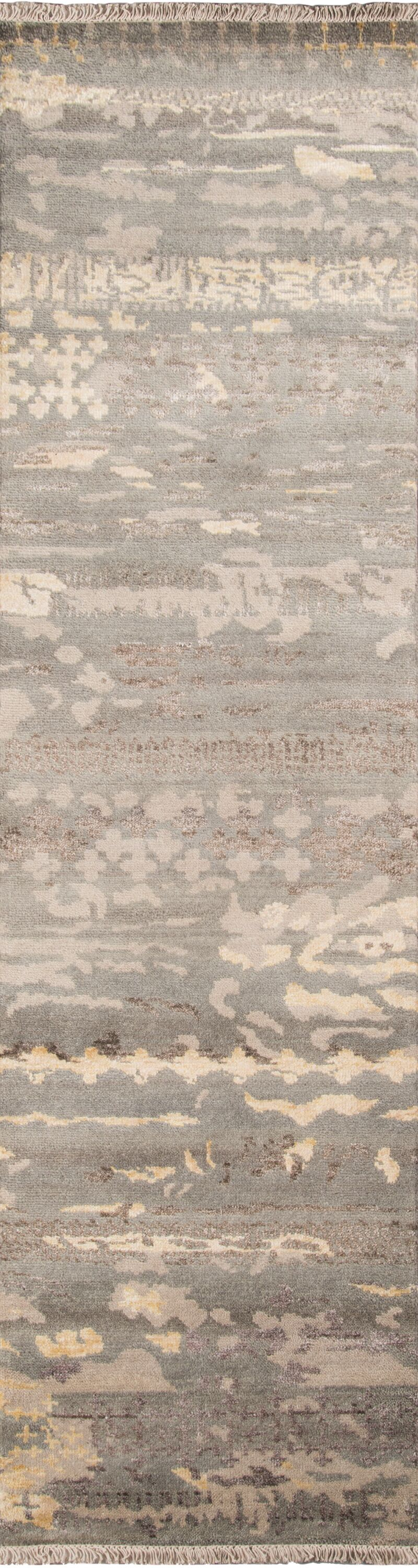 Moises Hand-Knotted Gray Area Rug Rug Size: Rectangle 2' x 3'