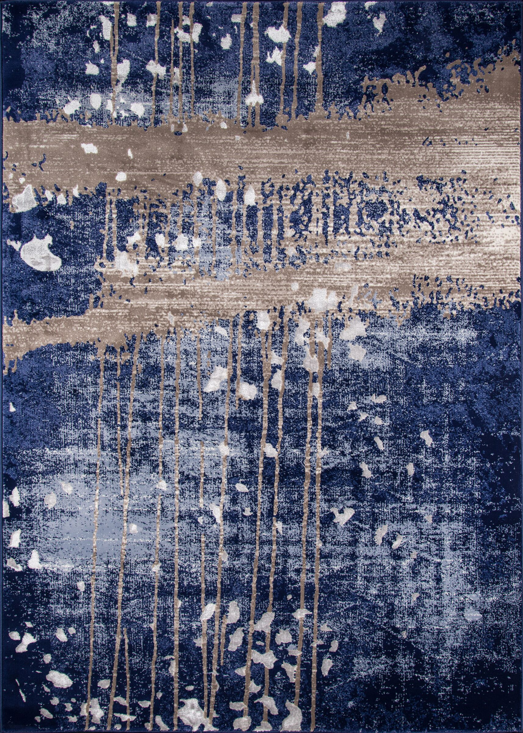 Pierce Blue/Gray Area Rug Rug Size: Rectangle 8'6