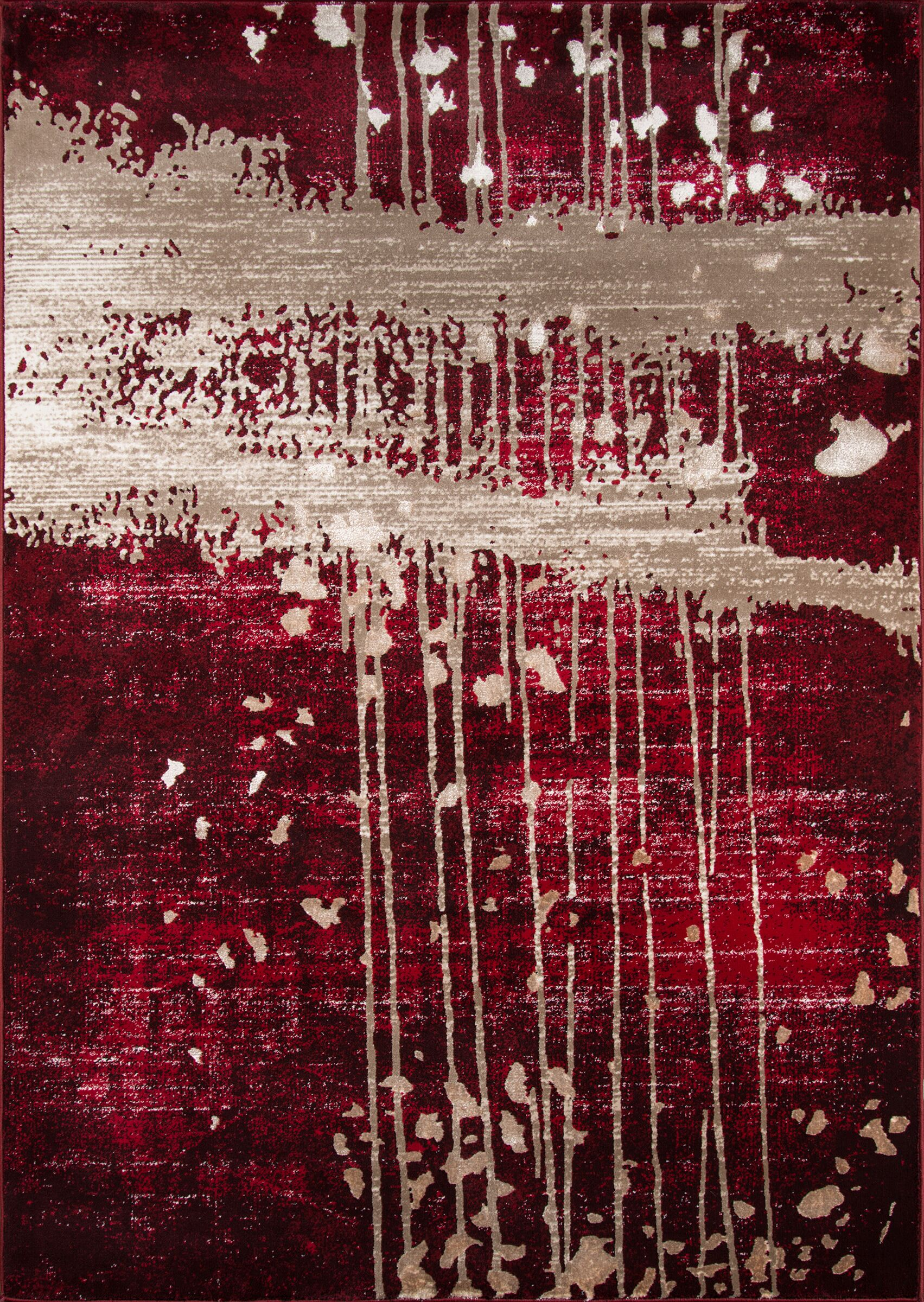 Pierce Red/Tan Area Rug Rug Size: Rectangle 8'6