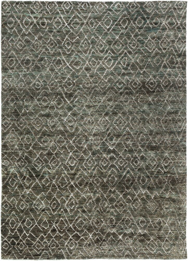 Albert Hand-Knotted Forest/Olive Area Rug Rug Size: Rectangle 5' x 8'