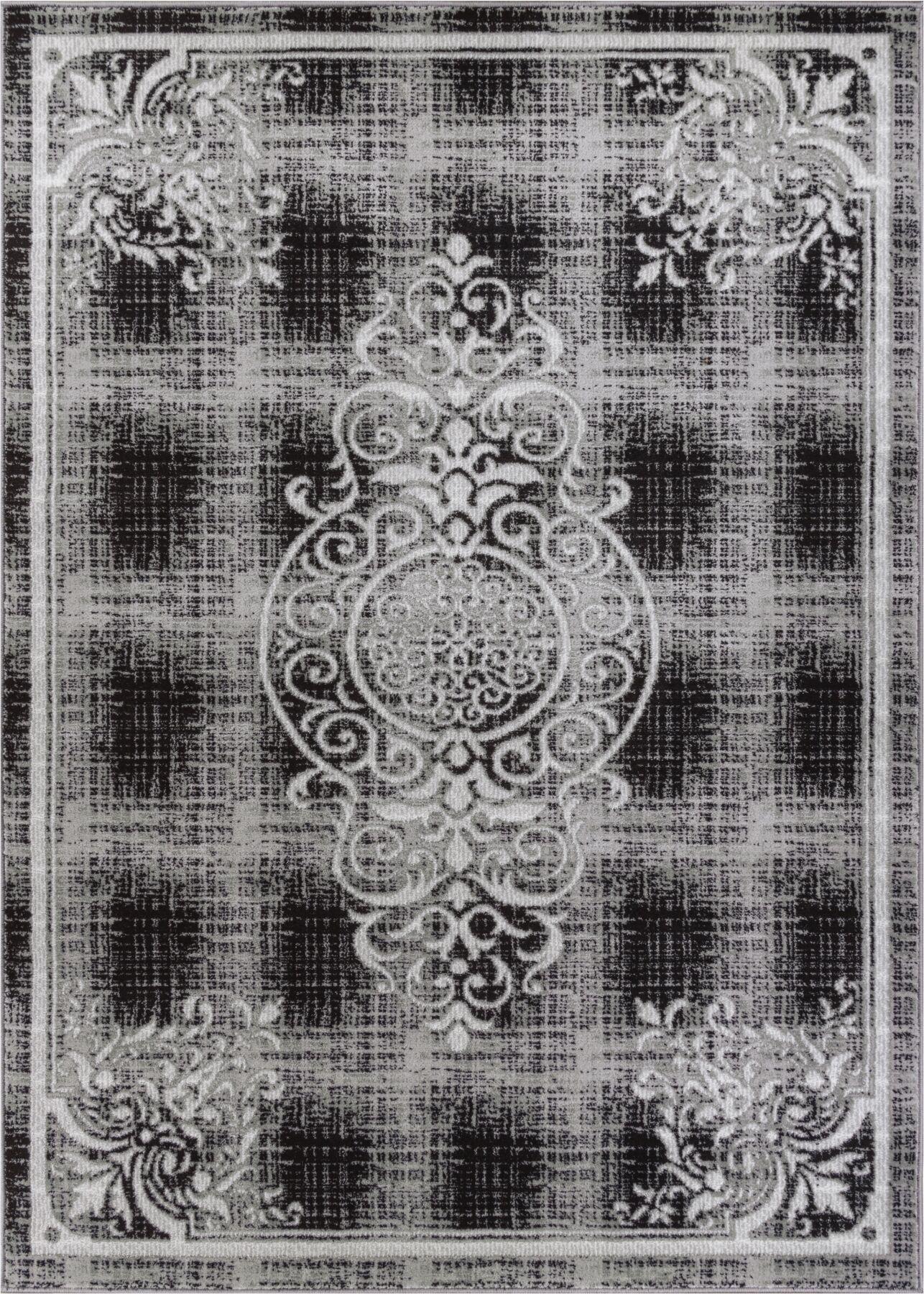Bezout Geometric Gray Area Rug Rug Size: 5'3