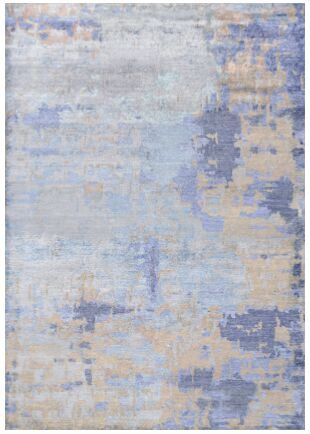 Mumford Faux Hand-Knotted Azure Area Rug Rug Size: Rectangle 5'6