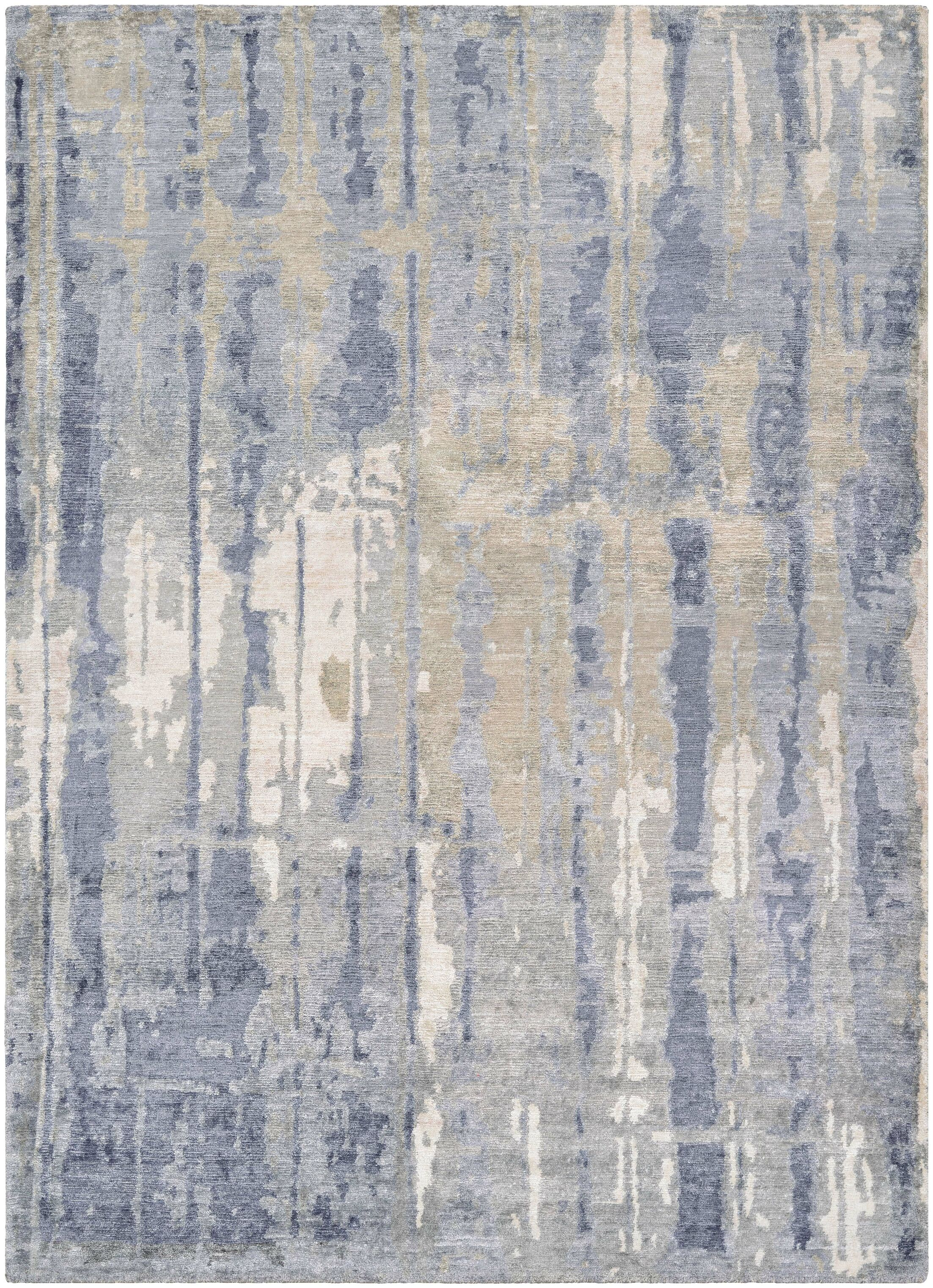 Durrant Hidden Forest Hand-Knotted Pearl/Slate Area Rug Rug Size: Rectangle 5'6