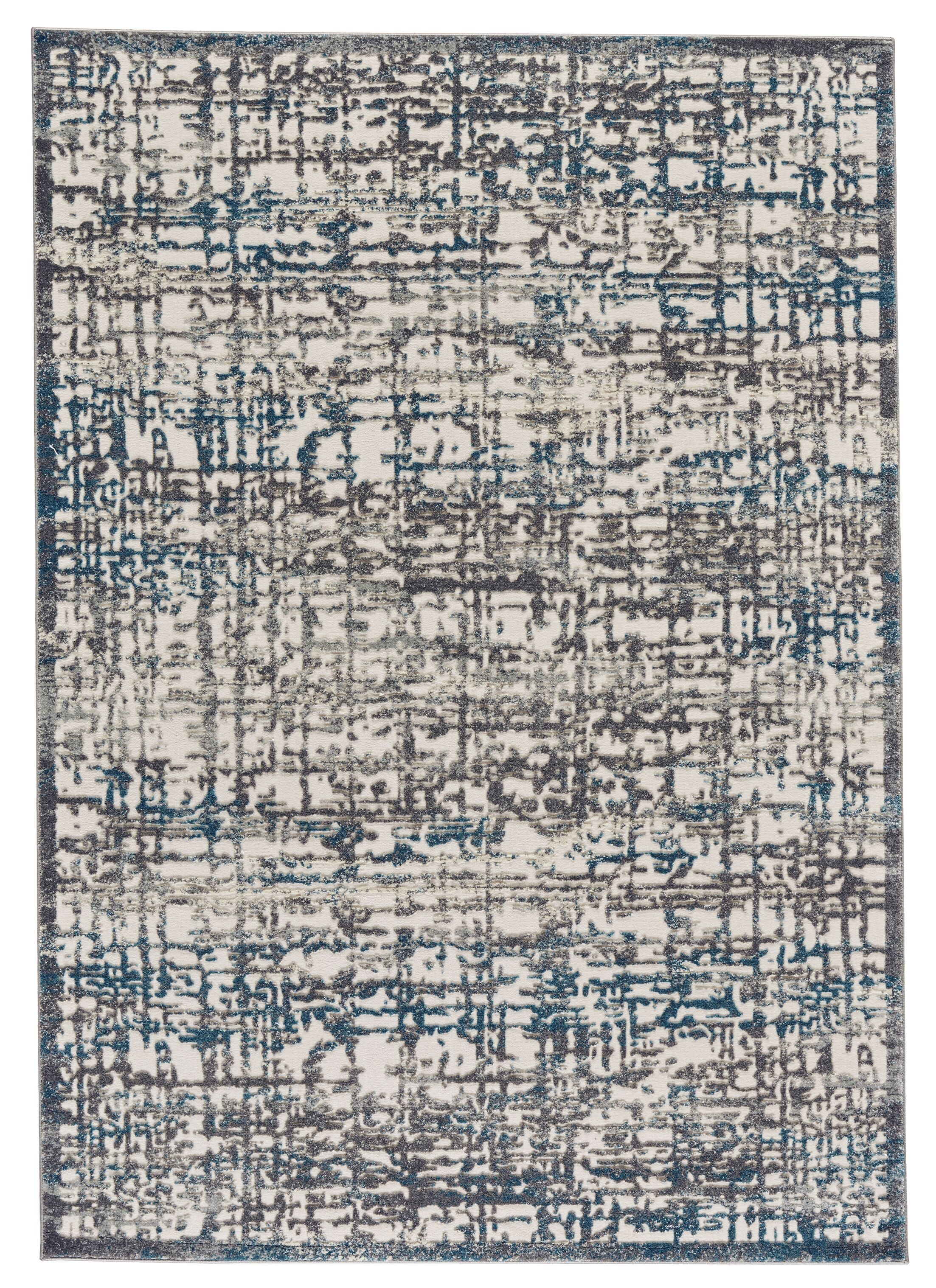 Maribelle Gray/Turquoise Area Rug Rug Size: Runner 2'1 x 7'1